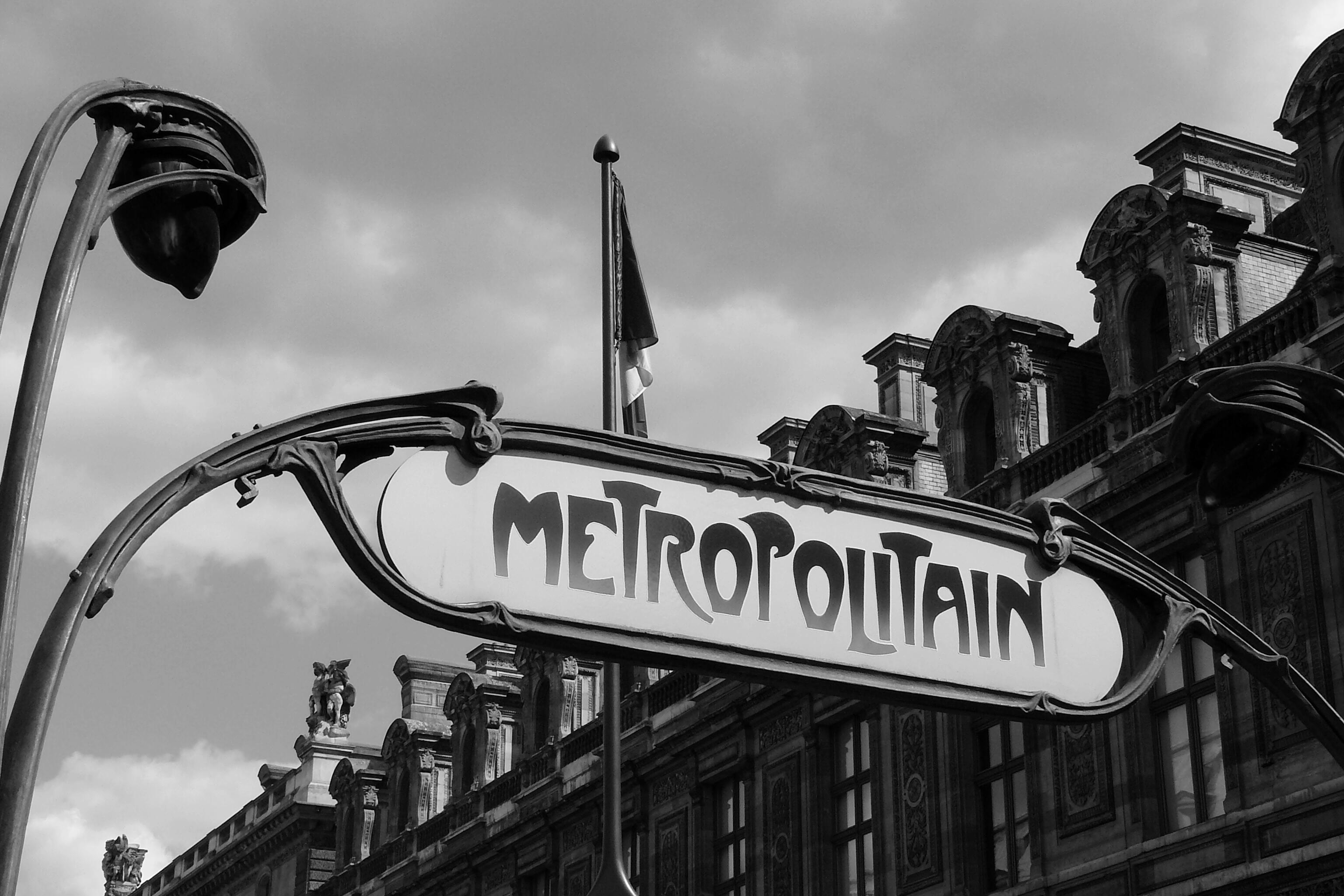 Free images black and white architecture road street building paris france close metro station capital district shield art nouveau input