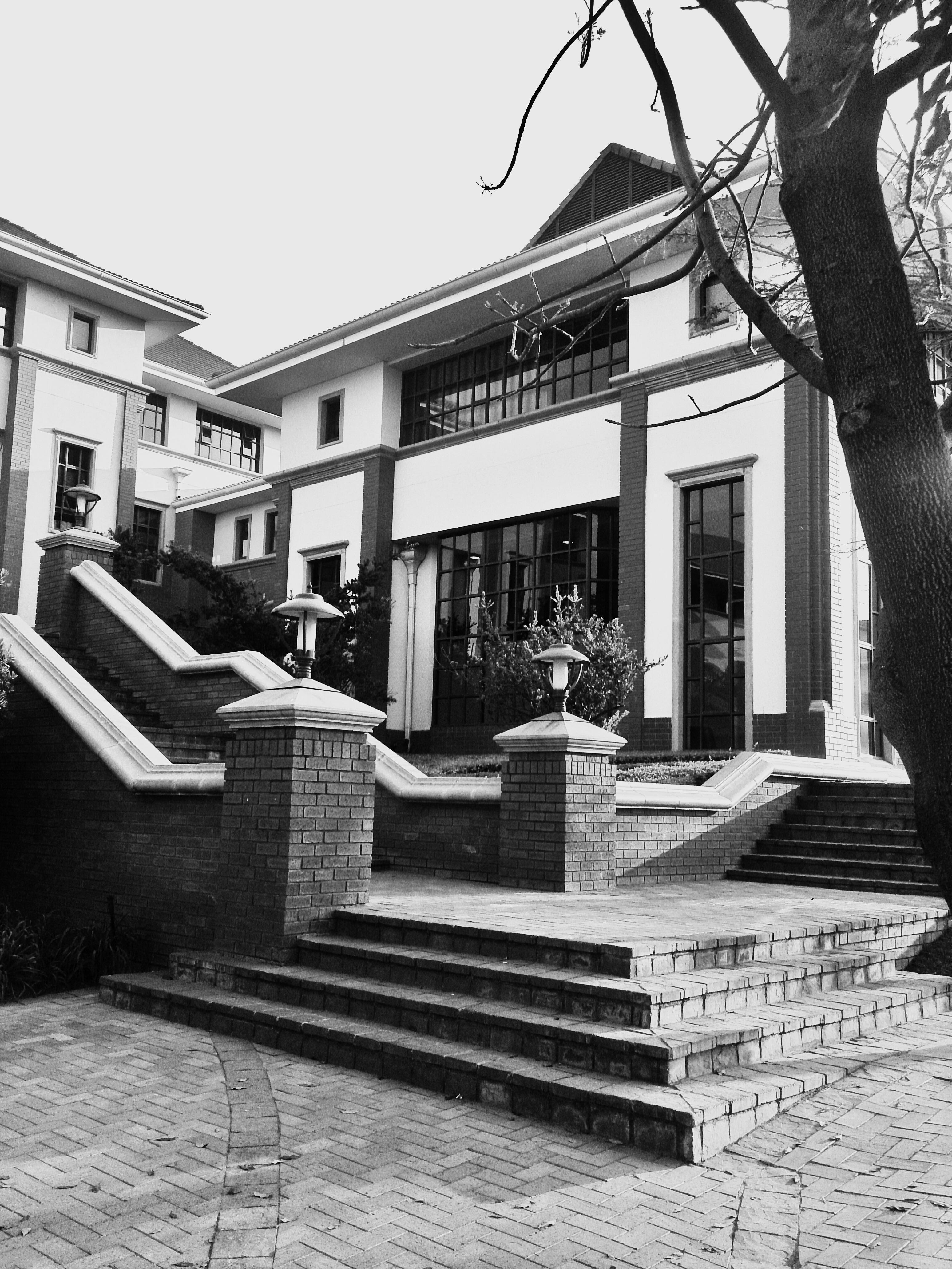 Hitam Dan Putih Arsitektur Jalan Fotografi Rumah Satu Warna Foto Sejarah Gambar