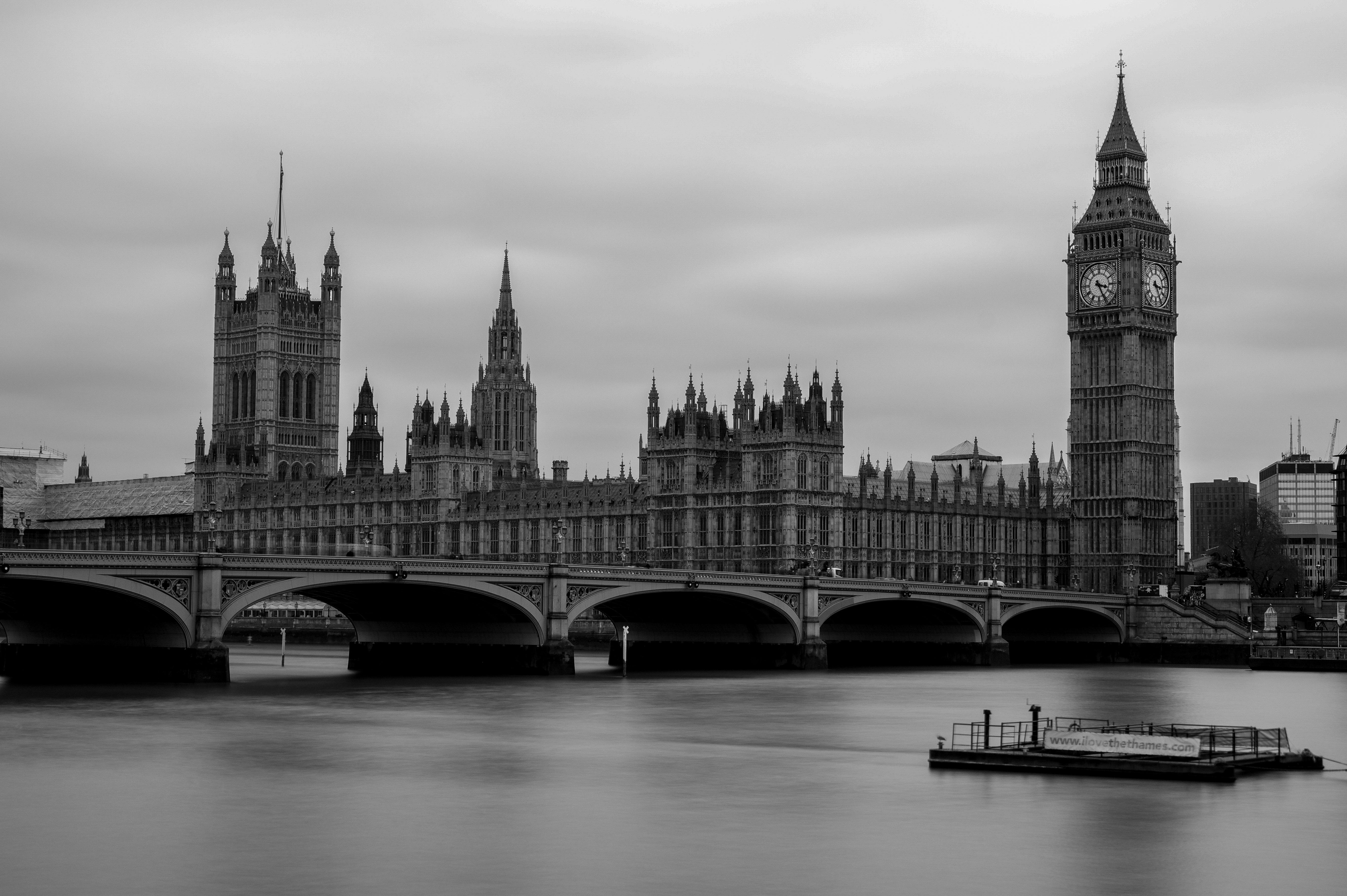 Free Images : black and white, architecture, sky, bridge ...  London Skyline Black And White