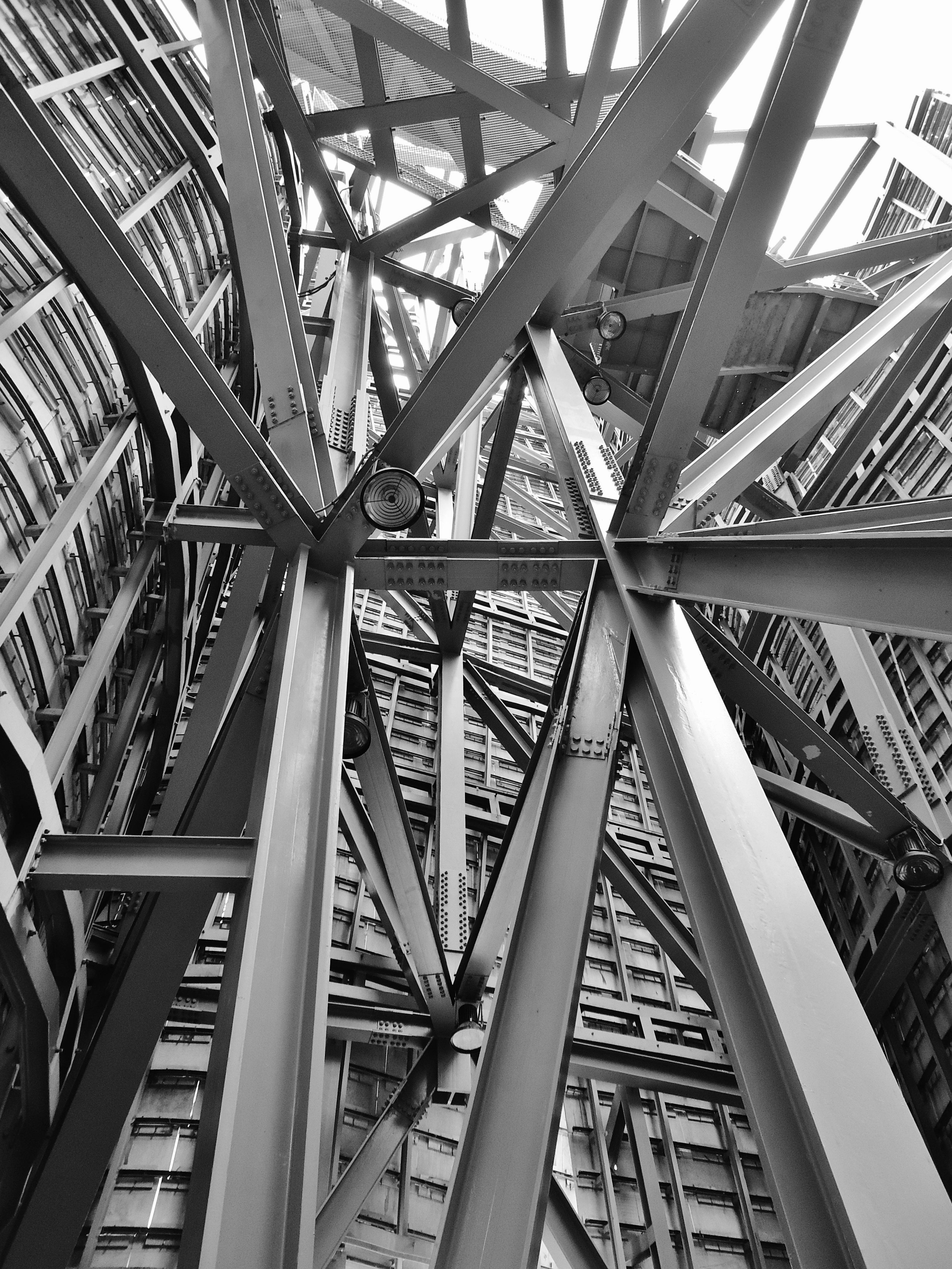 Black And White Architecture Building Skyscraper Steel Line Contrast Monochrome Design Symmetry Iron Shape