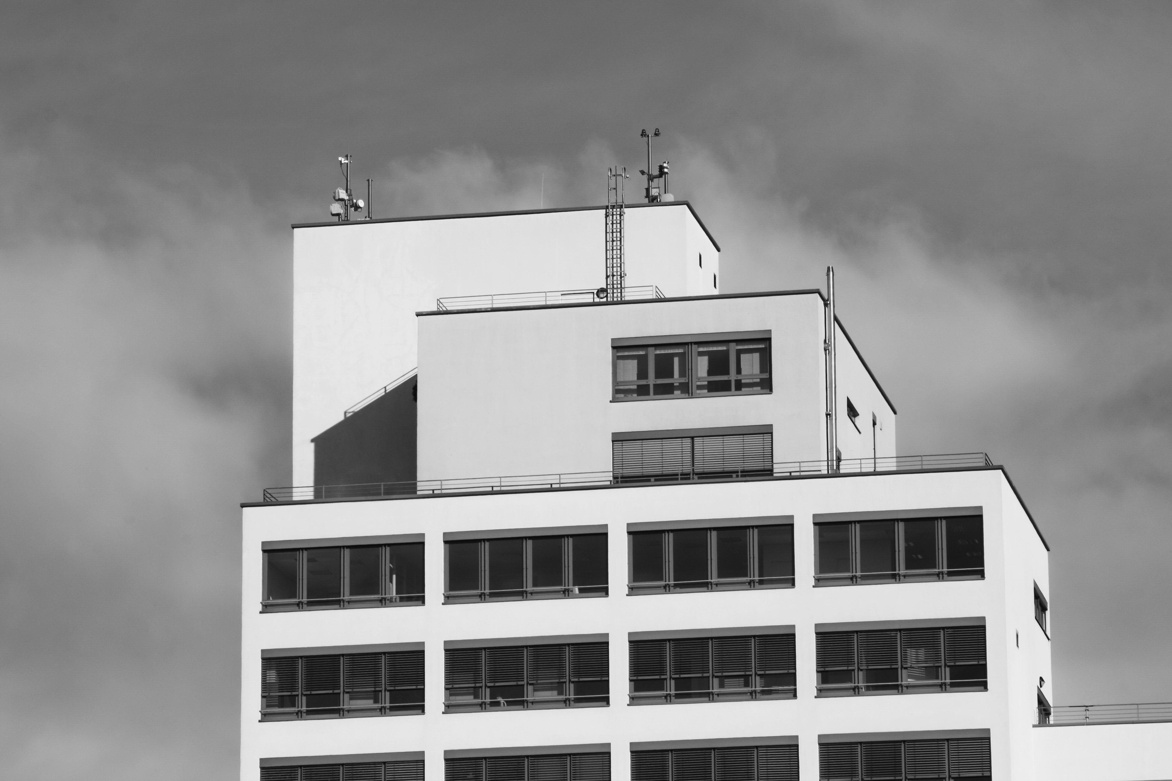 860 Gambar Hitam Putih Gedung HD