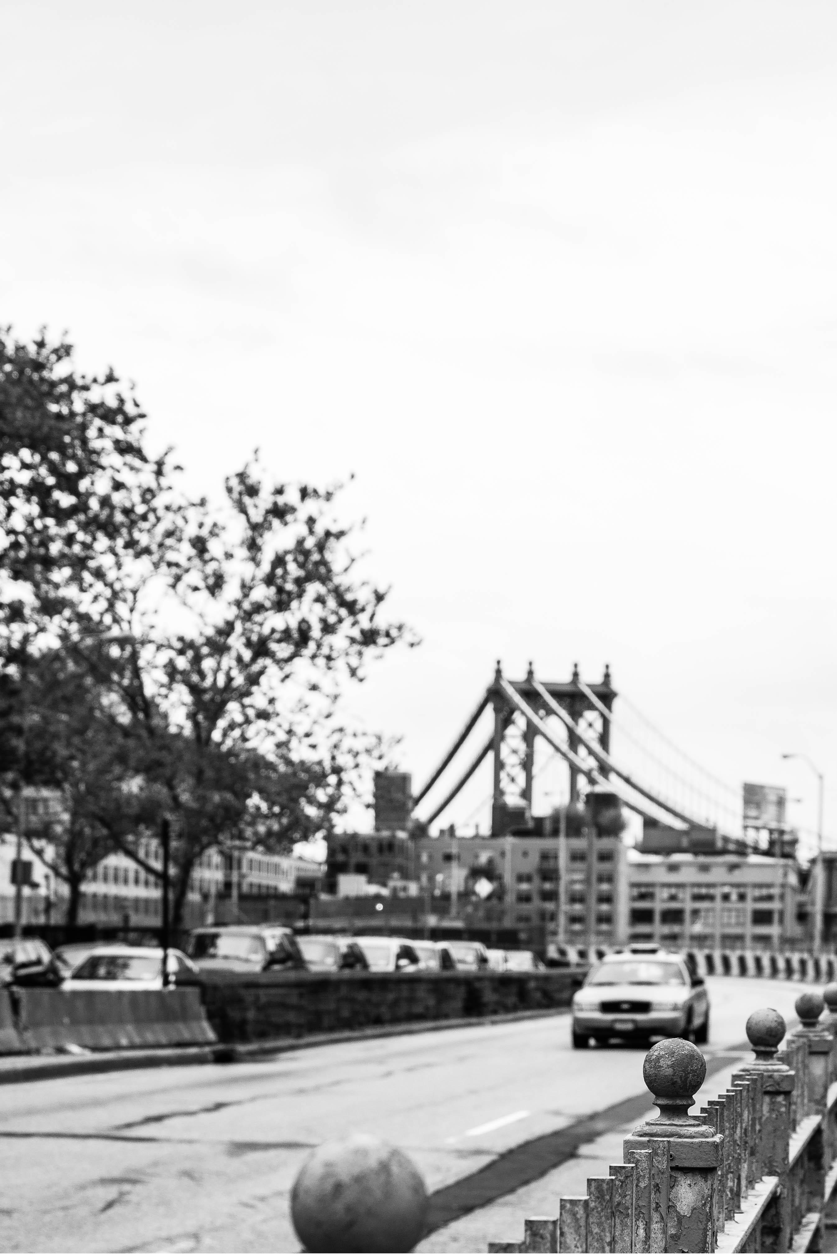 Black and white bridge photography cityscape panorama taxi suburb plaza brooklyn monochrome newyork brooklynbridge infrastructure ny