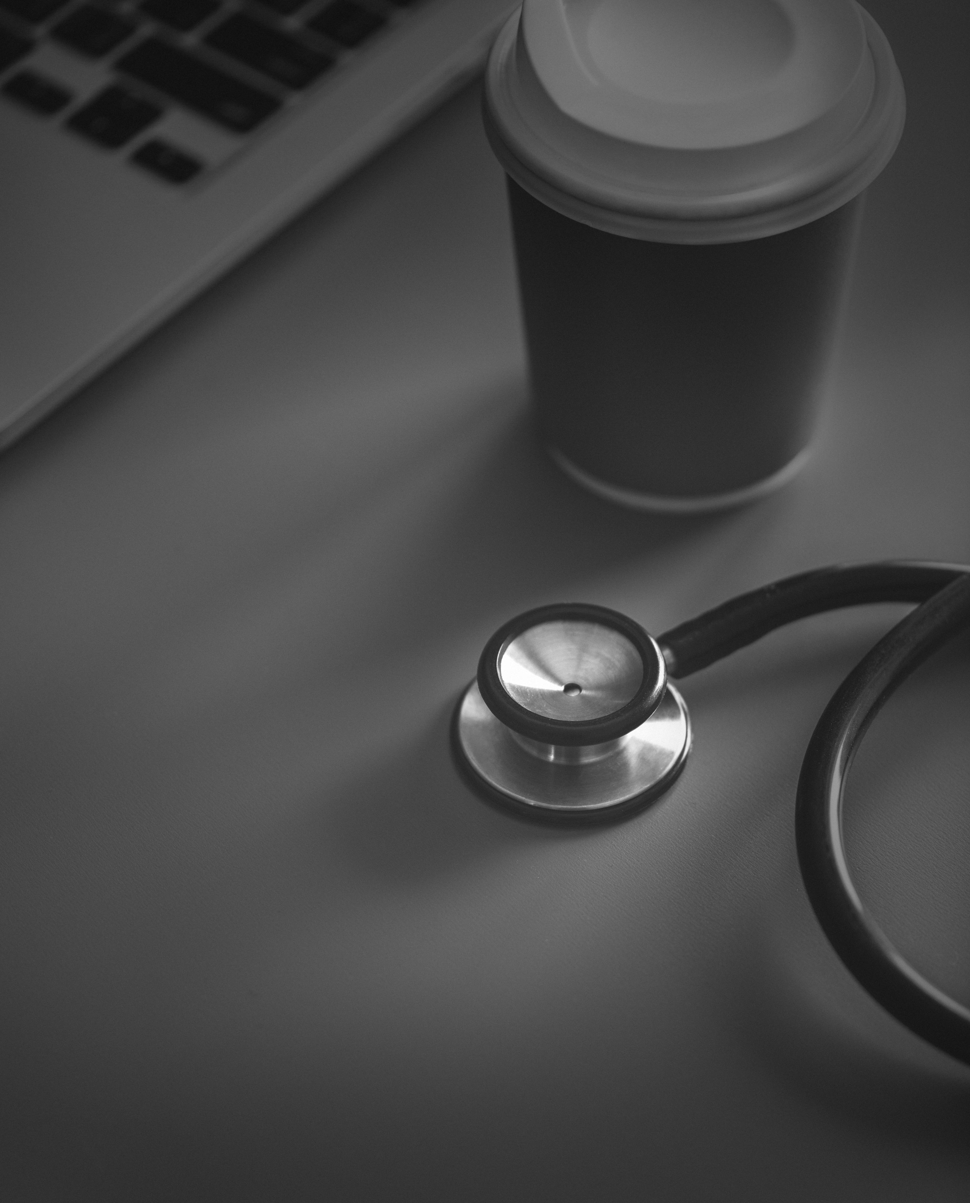 Gambar Hitam Dan Putih Bw Peduli Pemeriksaan Klinis Kopi