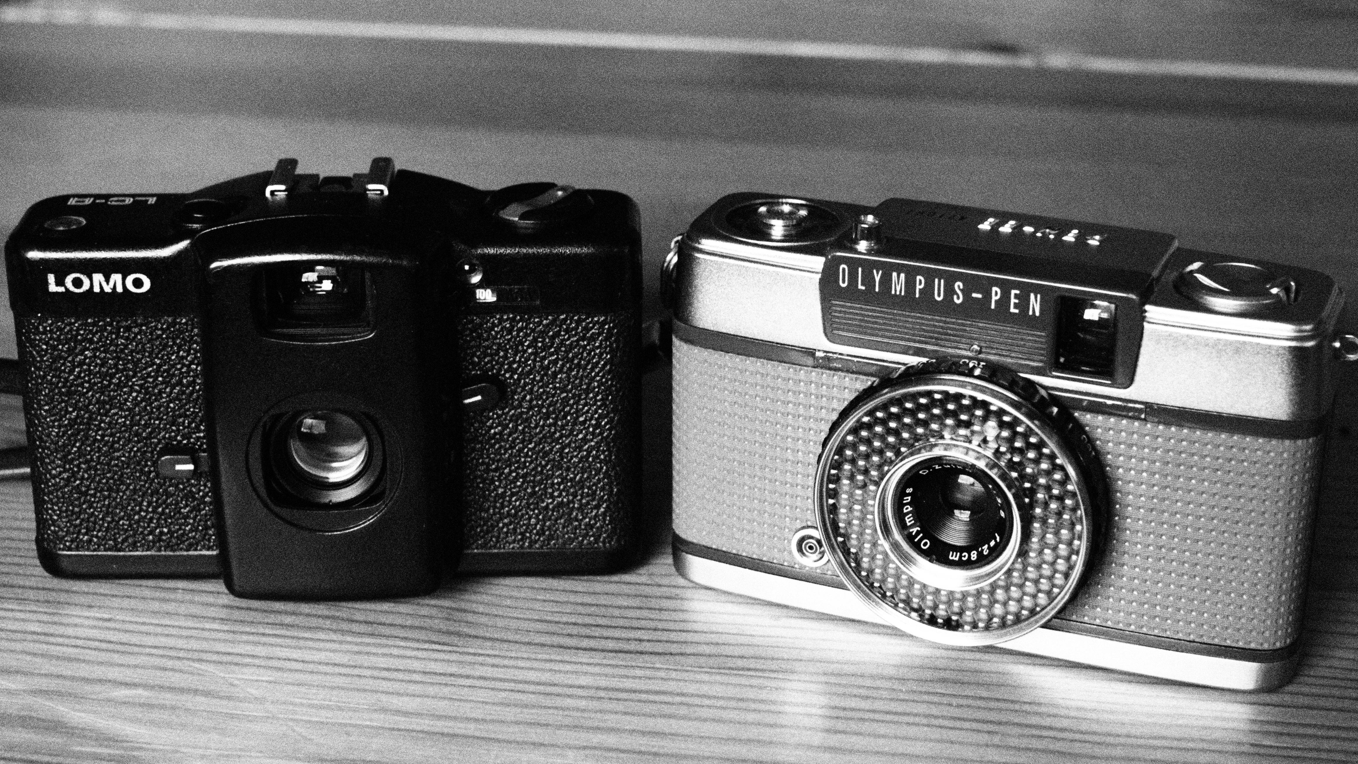 Kostenlose foto schwarz und weiß kamera fotografie sammlung