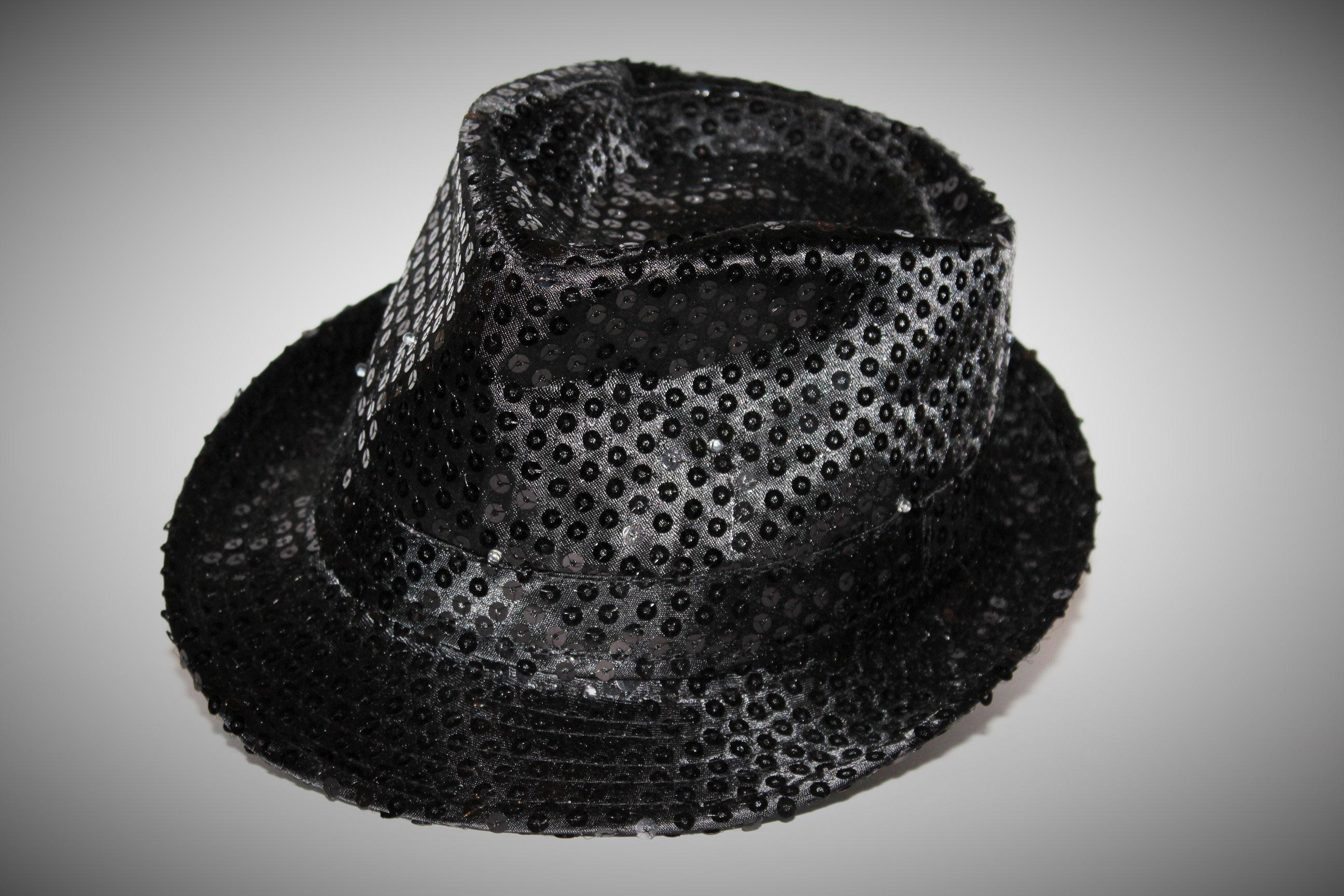en blanco y negro carnaval sombrero ropa negro Casco gorra bonita  Sombrerería Fedora Lentejuelas sombrero de 6504ee3a0b2