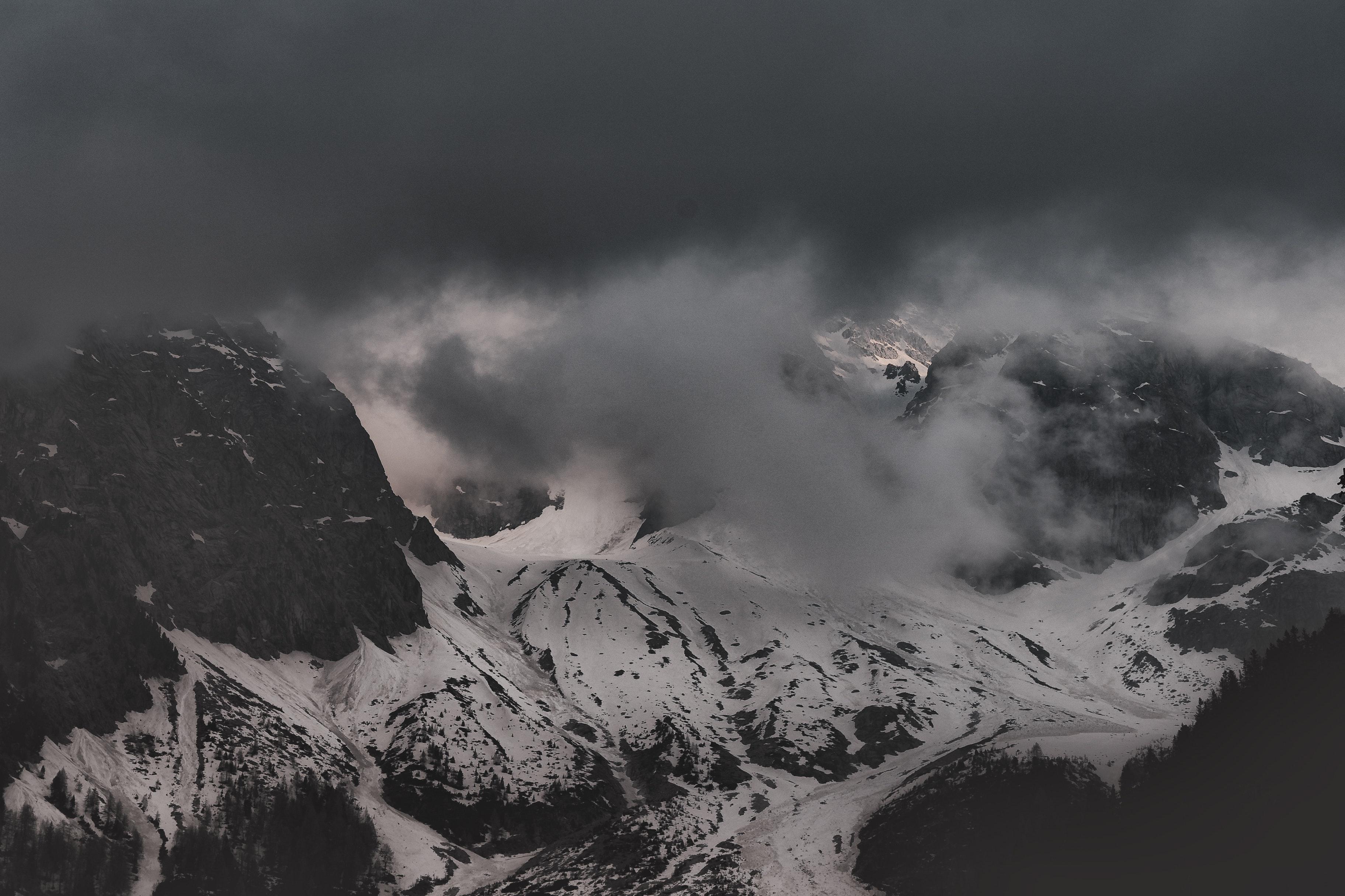 無料画像 黒と白 雲 コールド 夜明け デスクトップの壁紙 霧