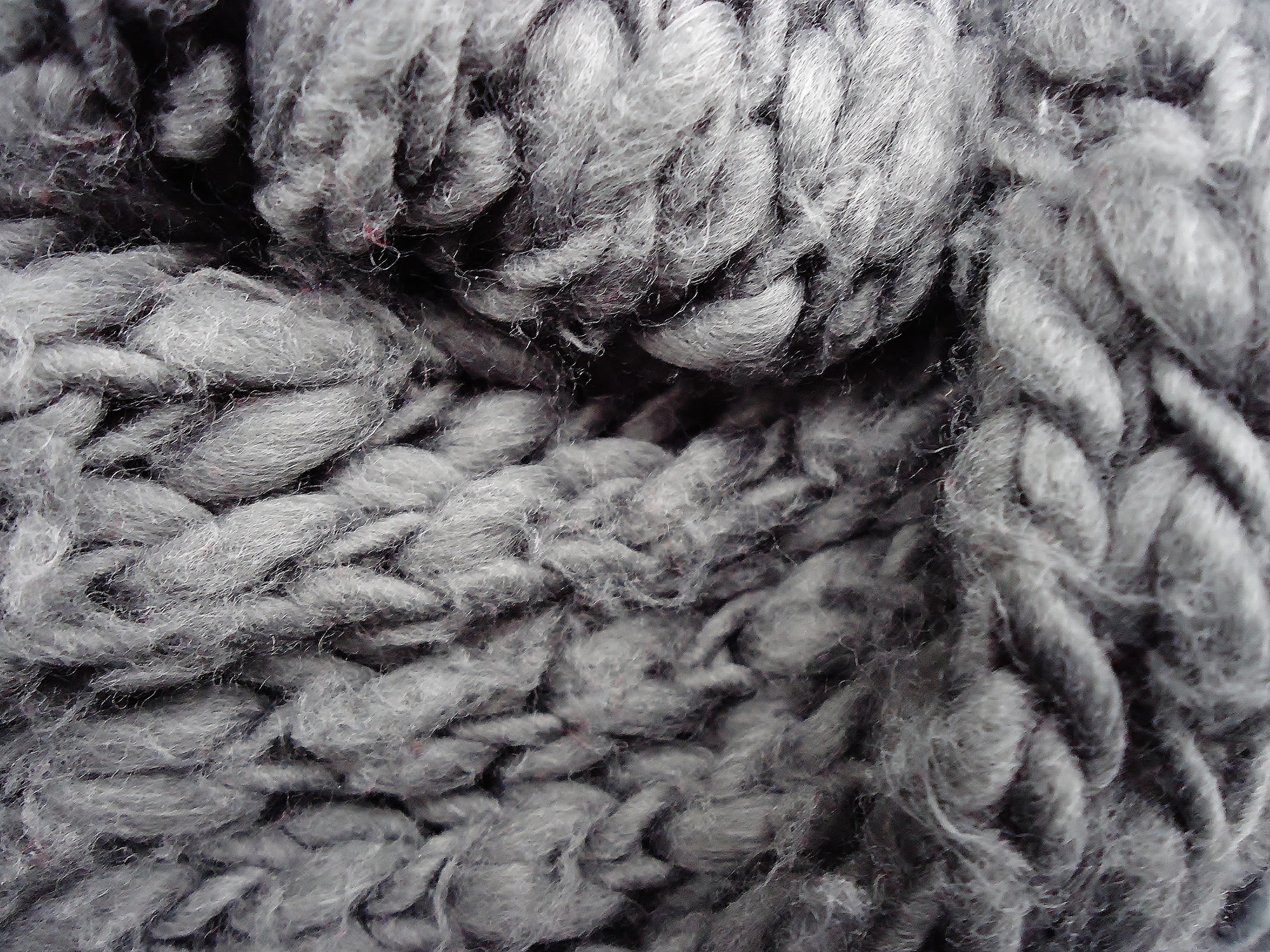 7a2f3cdcd7a1 noir et blanc fourrure modèle la laine chaleur écharpe Matériel fil textile  gris art douceur