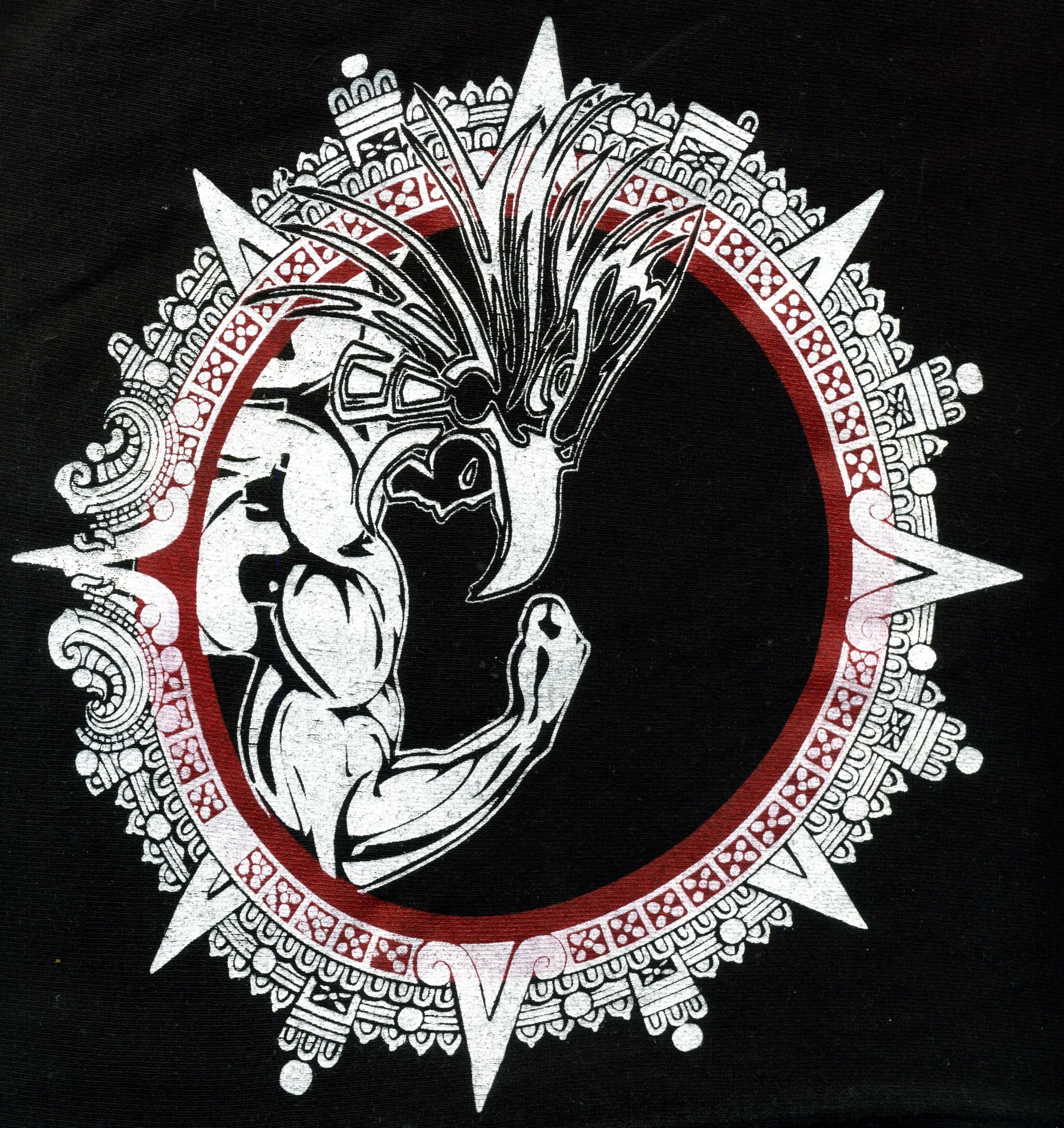 Aztec Calendar Illustration : Free images black and white gym aztec font art