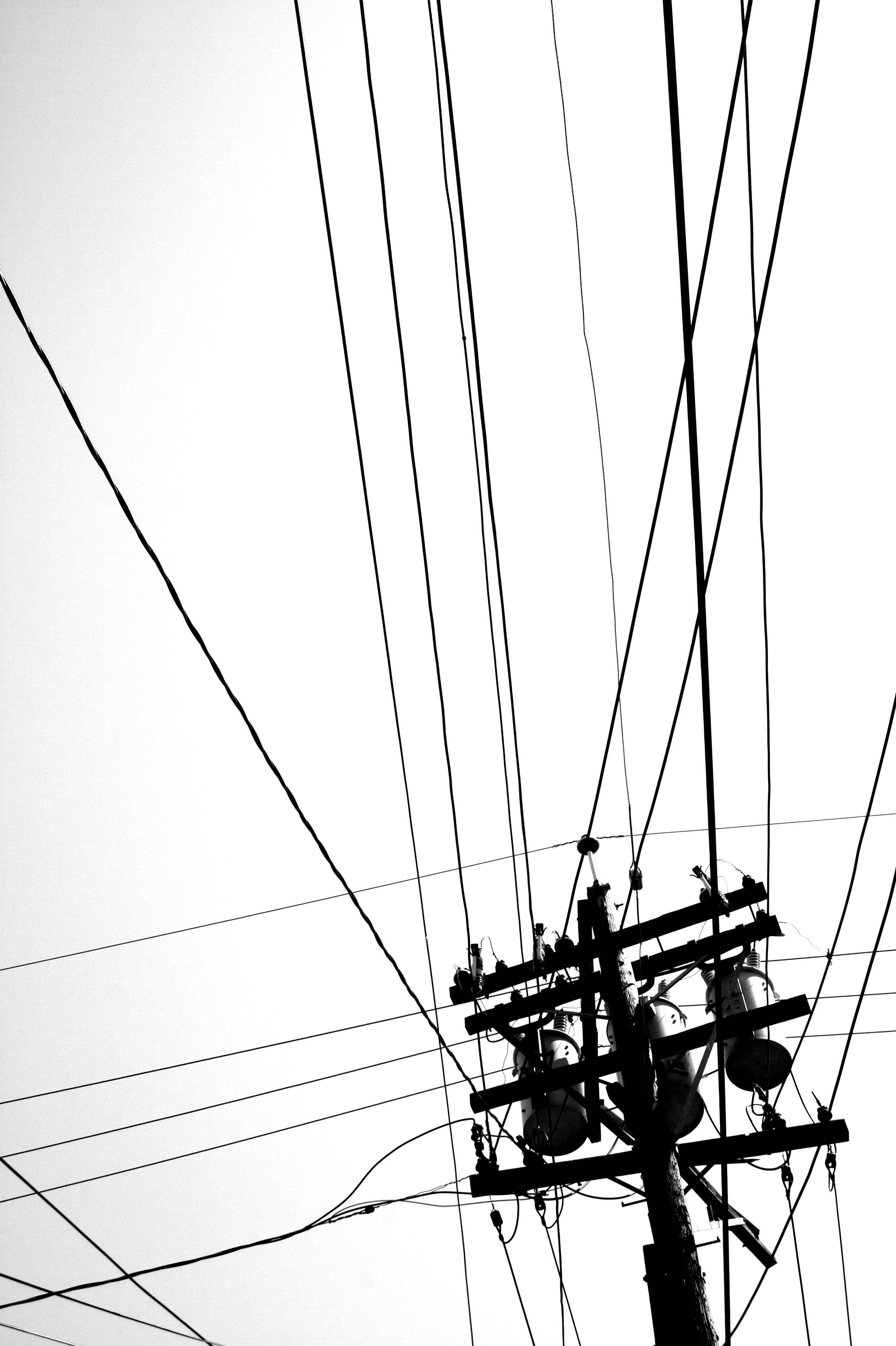 Kostenlose foto : Schwarz und weiß, Linie, Fahrzeug, Mast, Kontrast ...