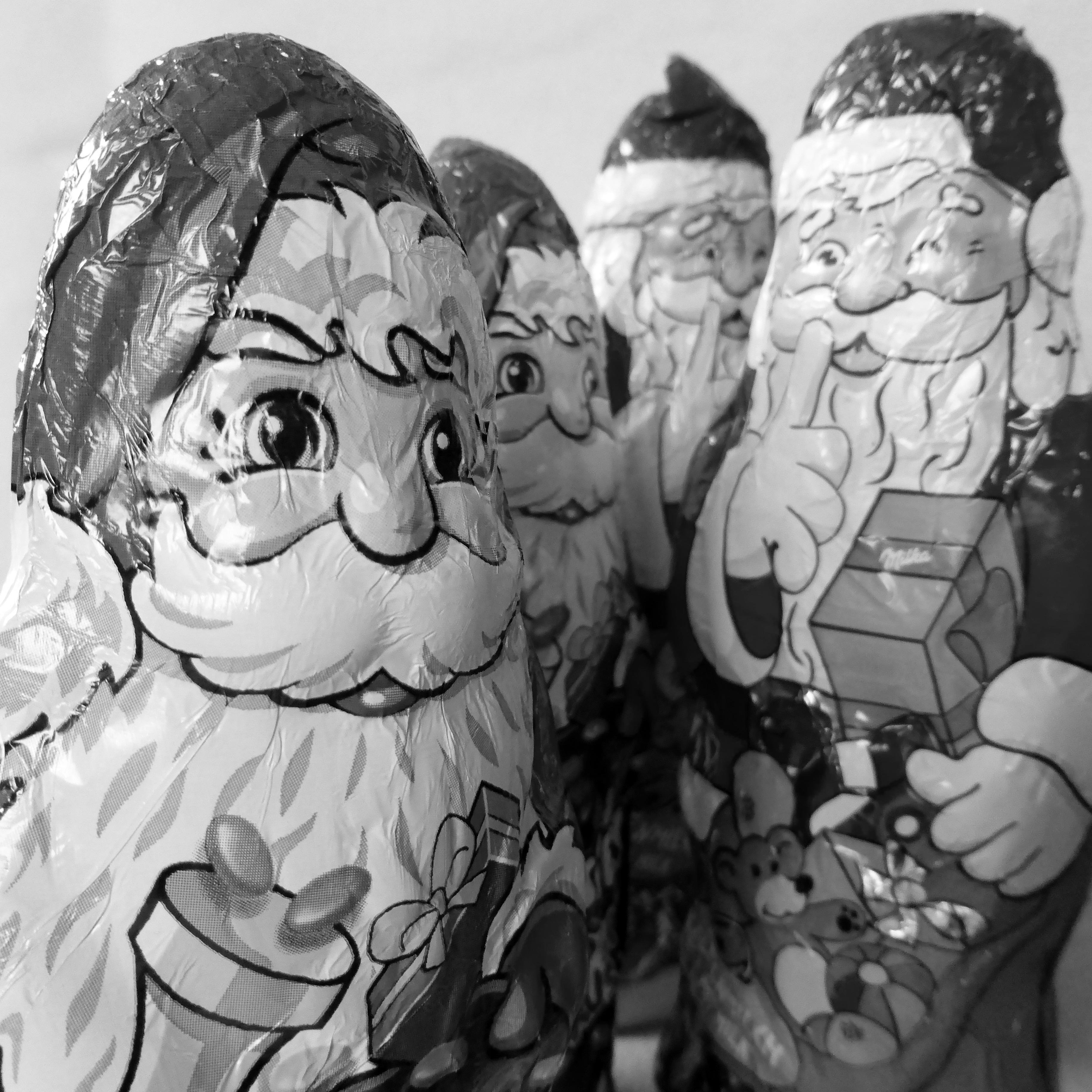 Gambar Hitam Dan Putih Satu Warna Cokelat Hari Natal Seni