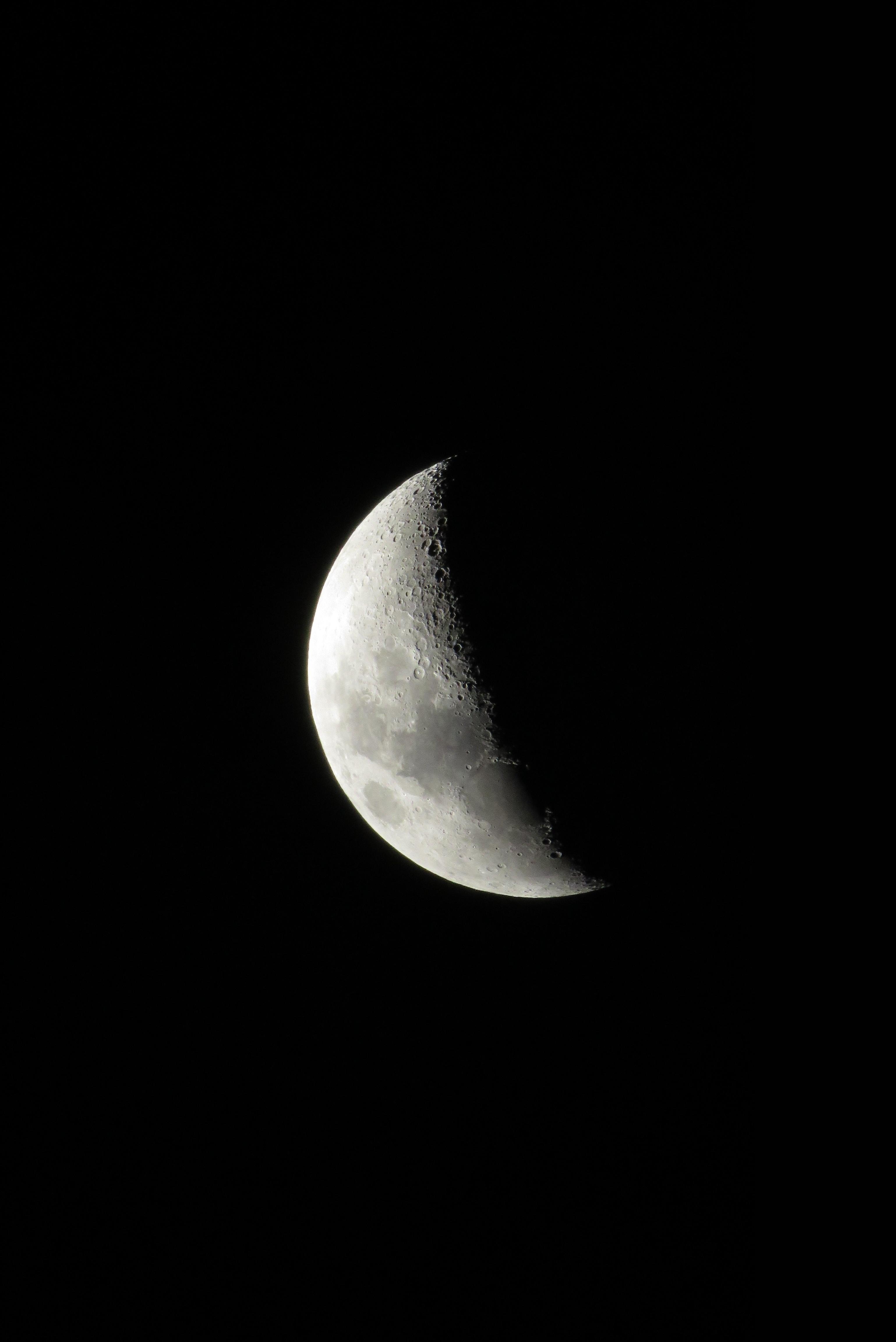 Gambar Hitam Dan Putih Malam Suasana Kegelapan Sinar Bulan