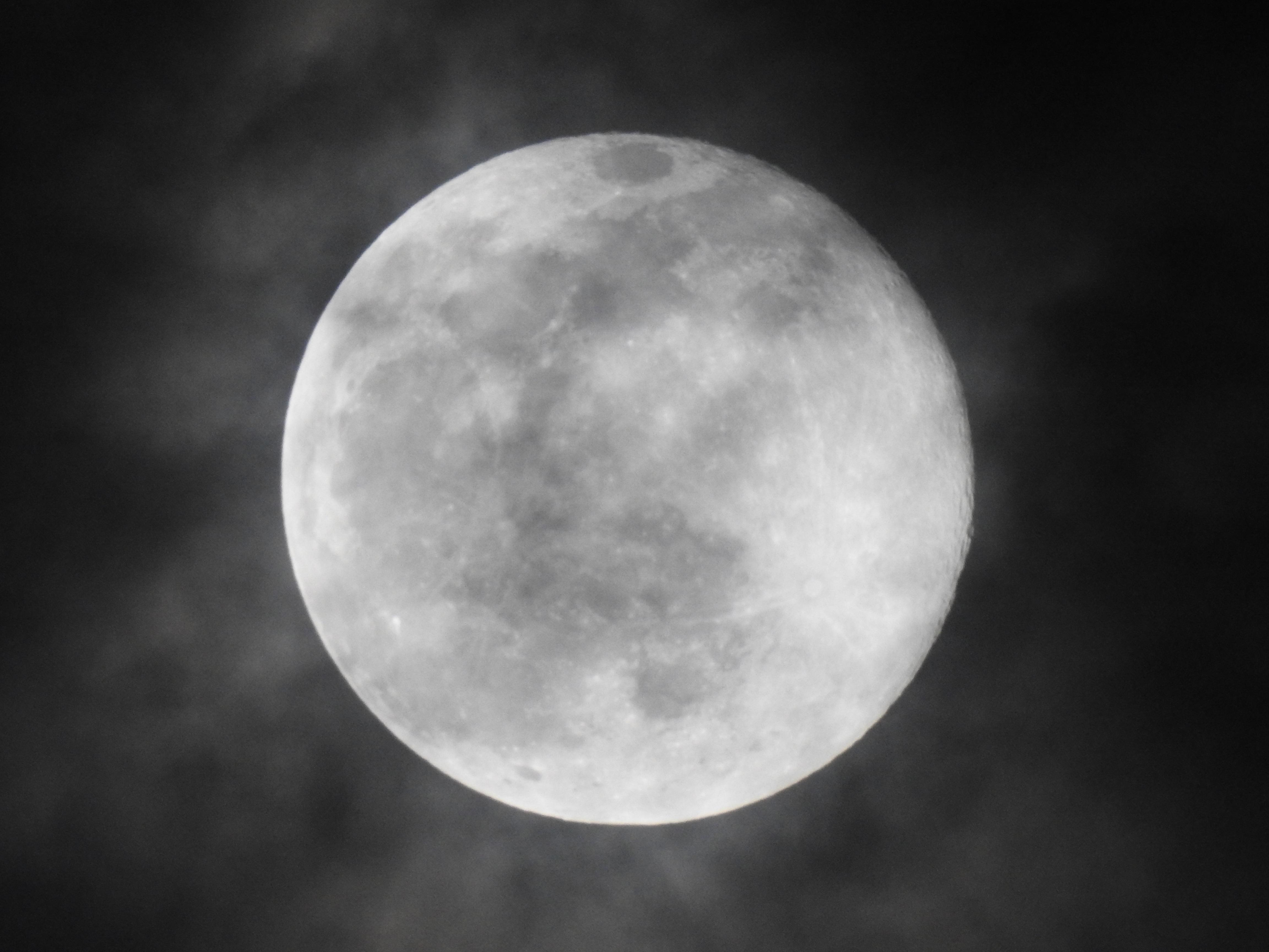 Gambar Hitam Dan Putih Suasana Satu Warna Bulan Purnama