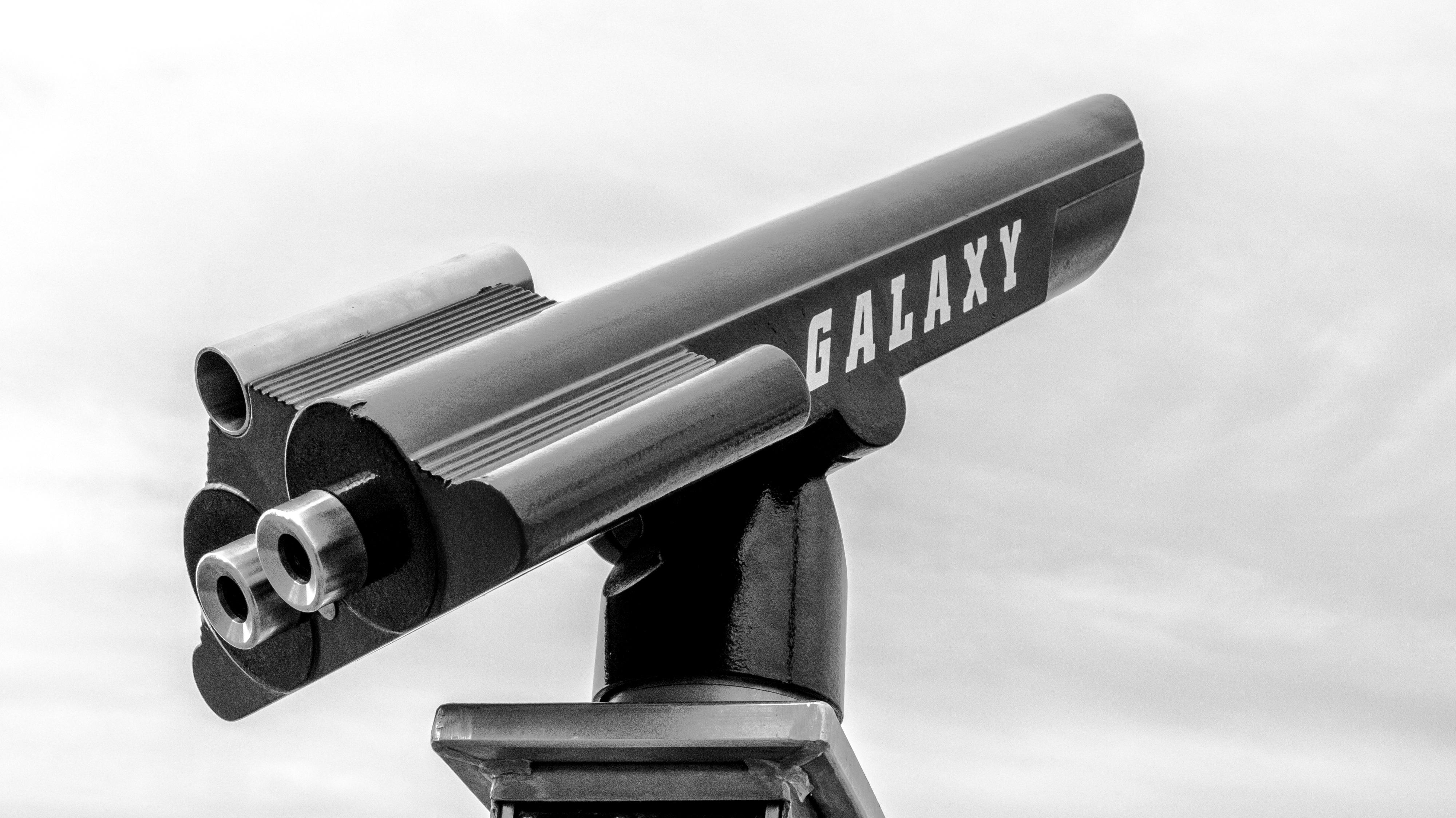 Fotoğraf siyah ve beyaz panorama seyir teleskop tek renkli