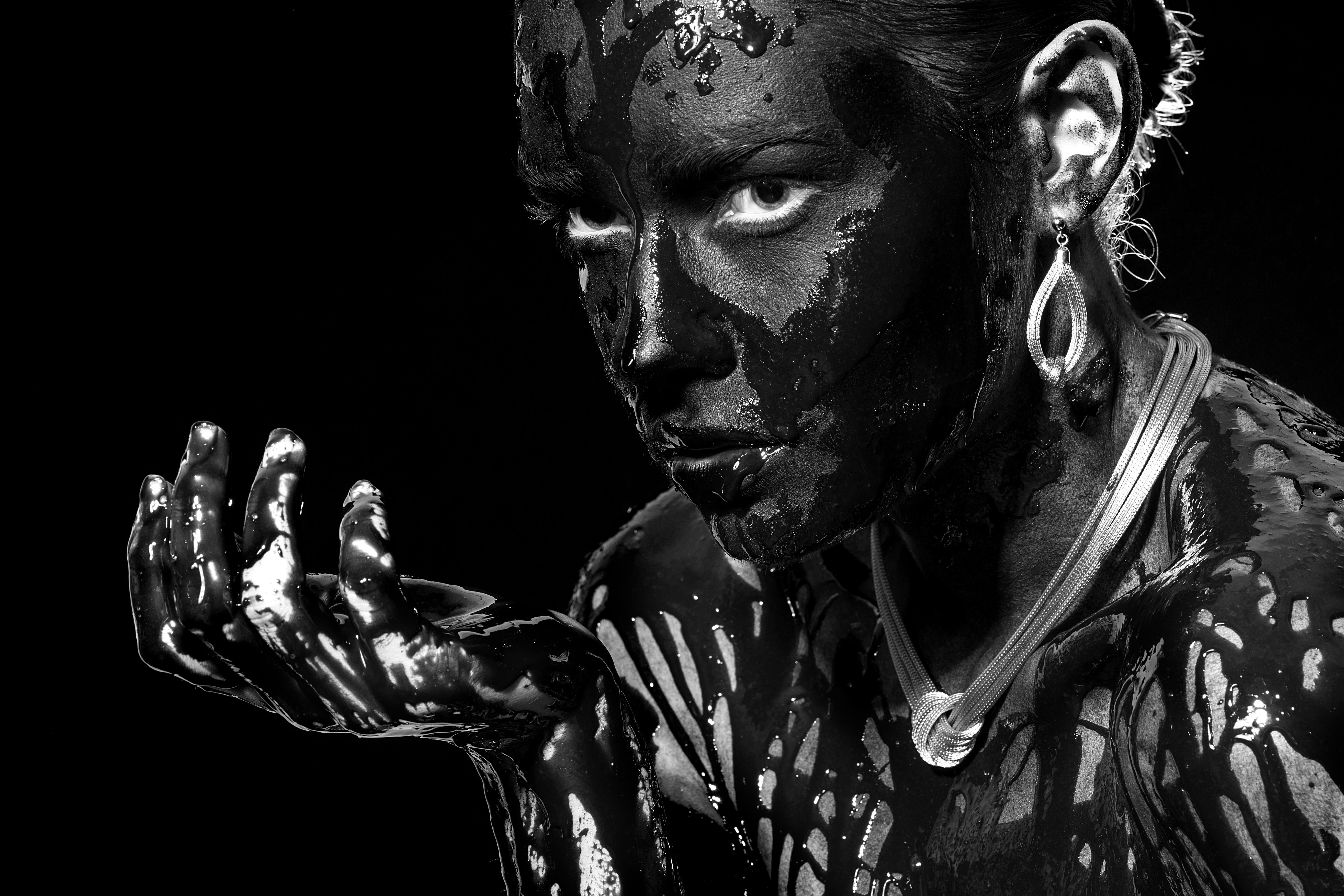 Fotoğraf Siyah Ve Beyaz Insanlar Portre Model Stüdyo Insan