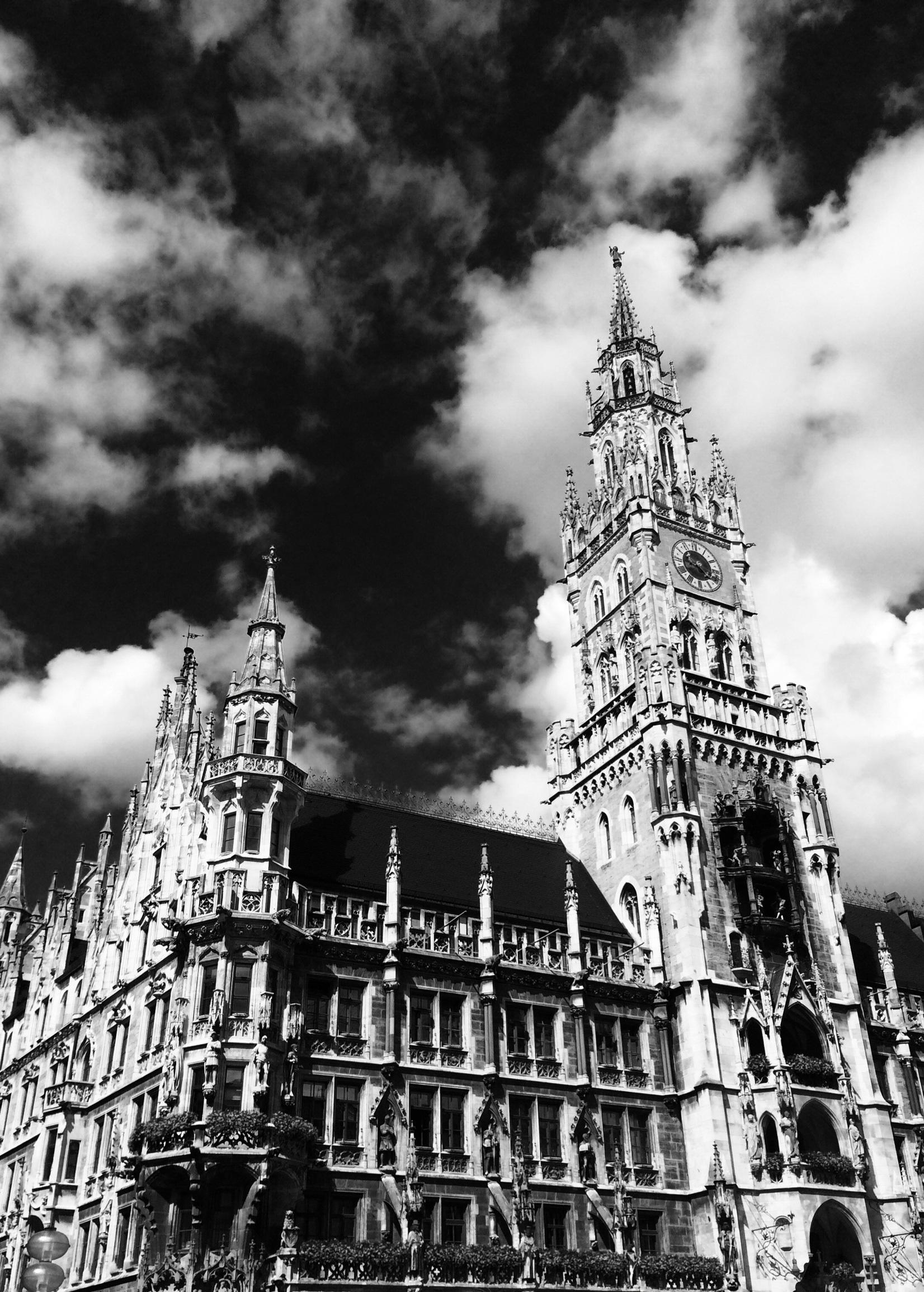 Достопримечательности германии черно белые картинки