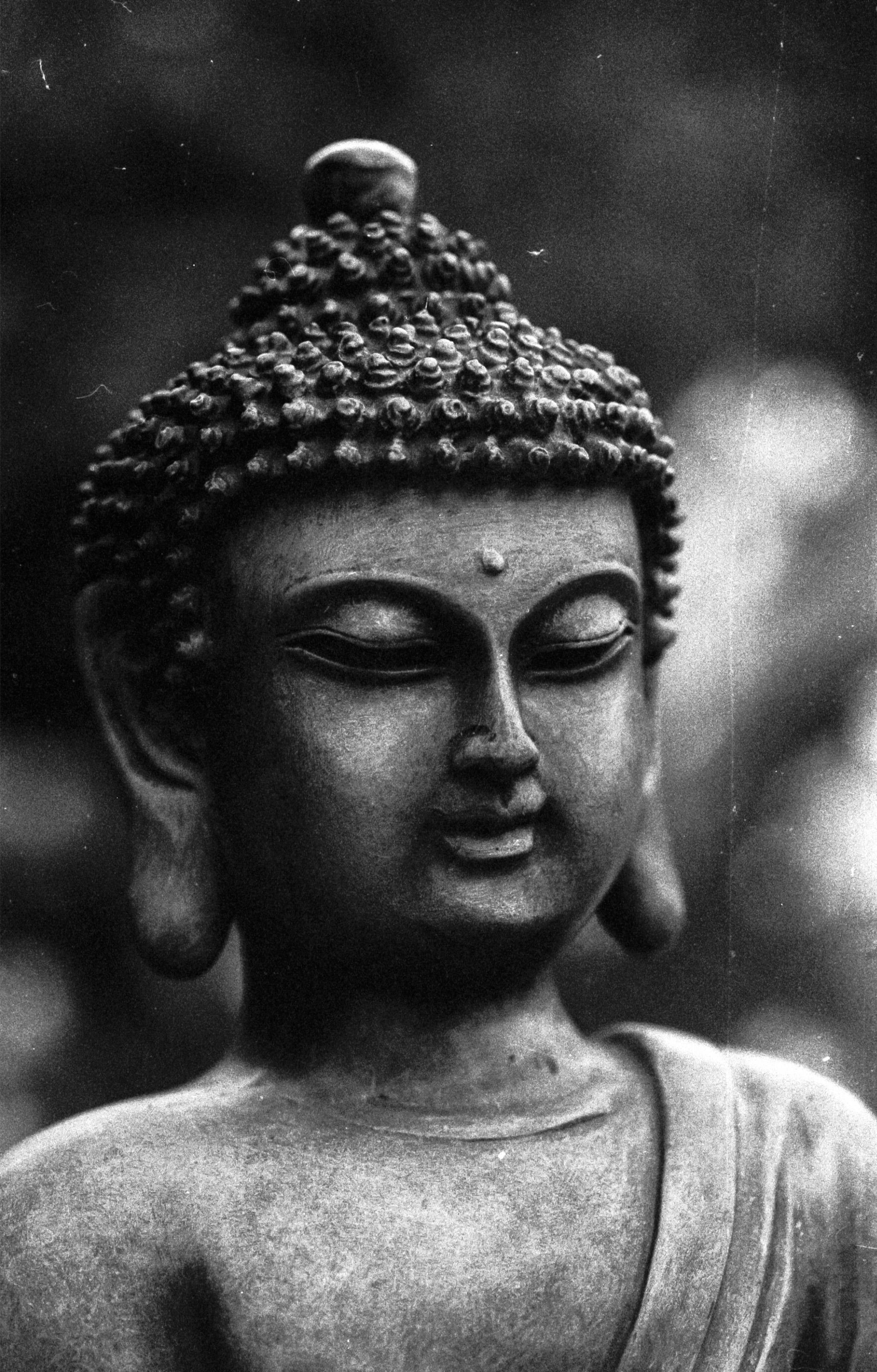 Black and white photography monument statue calm meditate black monochrome sculpture art temple head photograph beauty