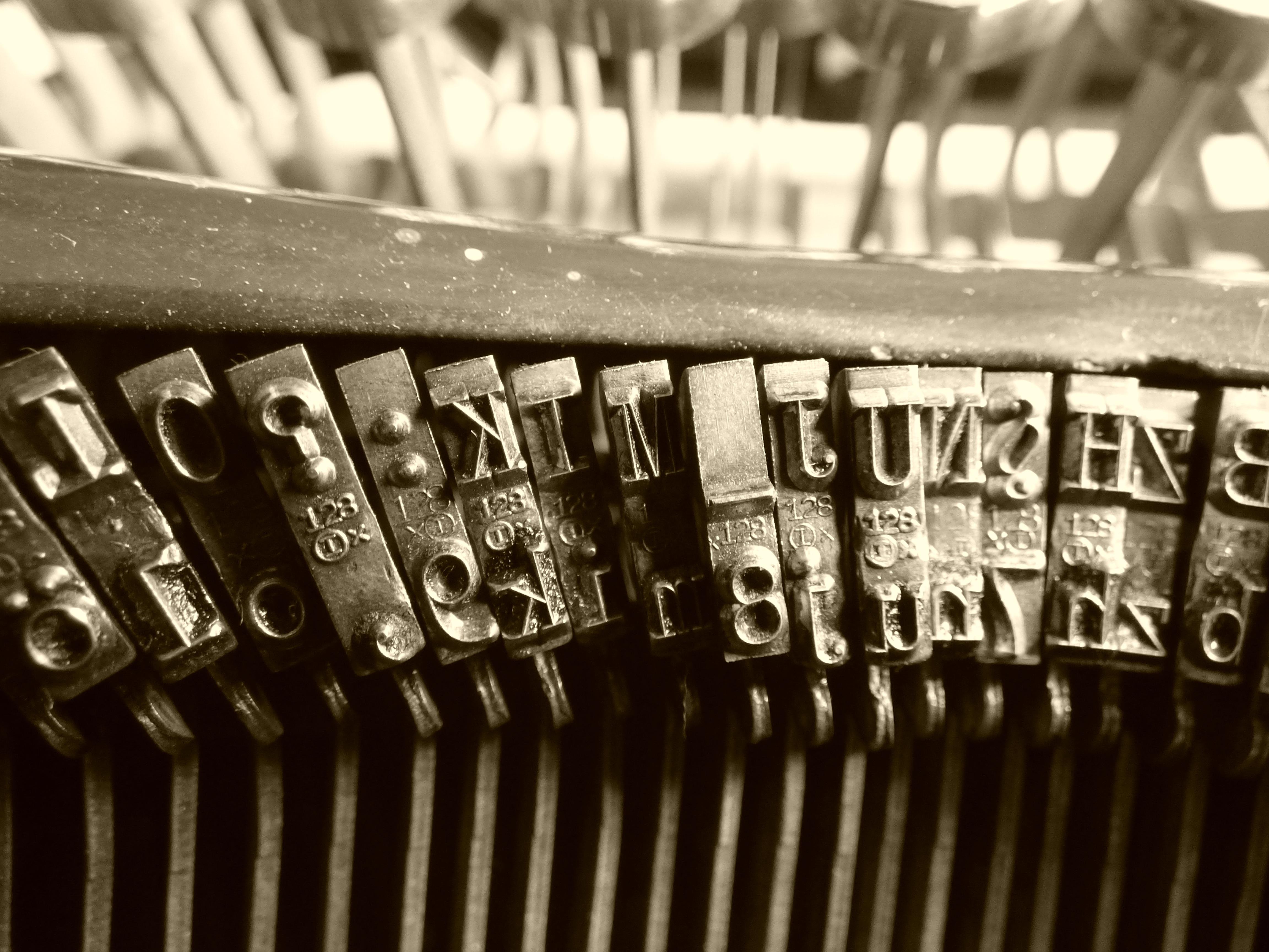 free images black and white old typewriter close up font