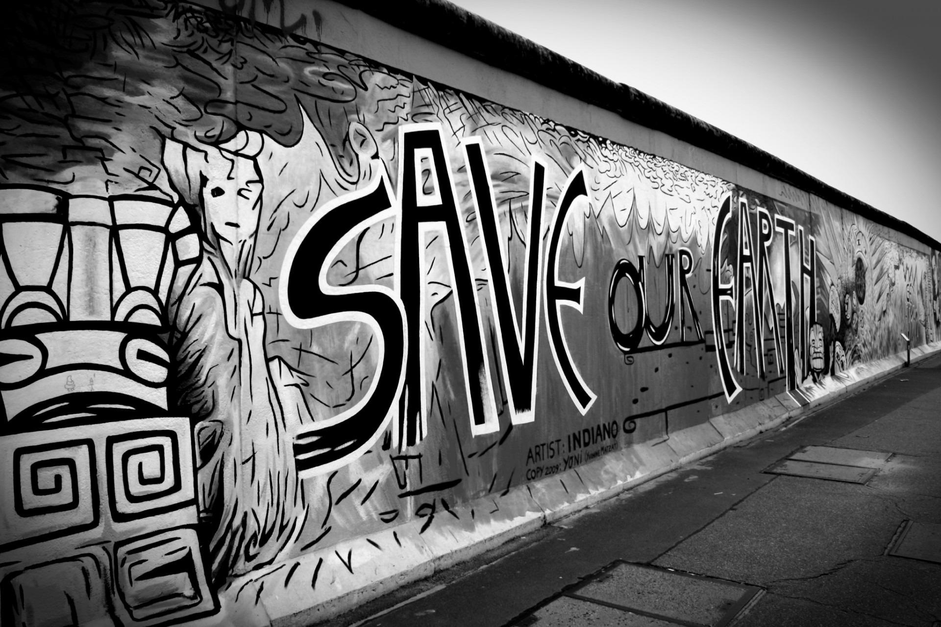 Black and white road street wall black monochrome graffiti black white font war art germany berlin
