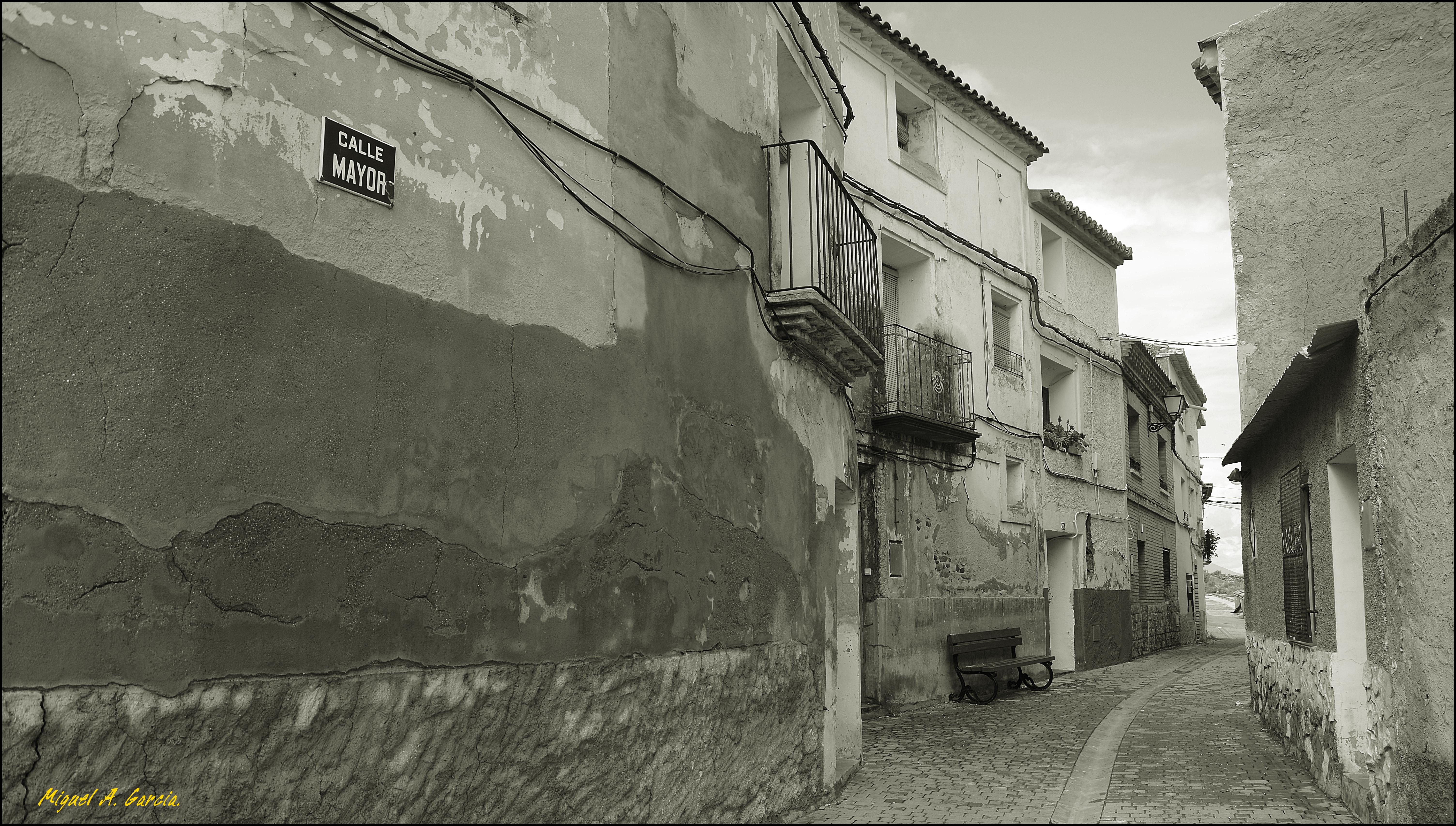 Gambar Hitam Dan Putih Jalan Gang Dinding Satu