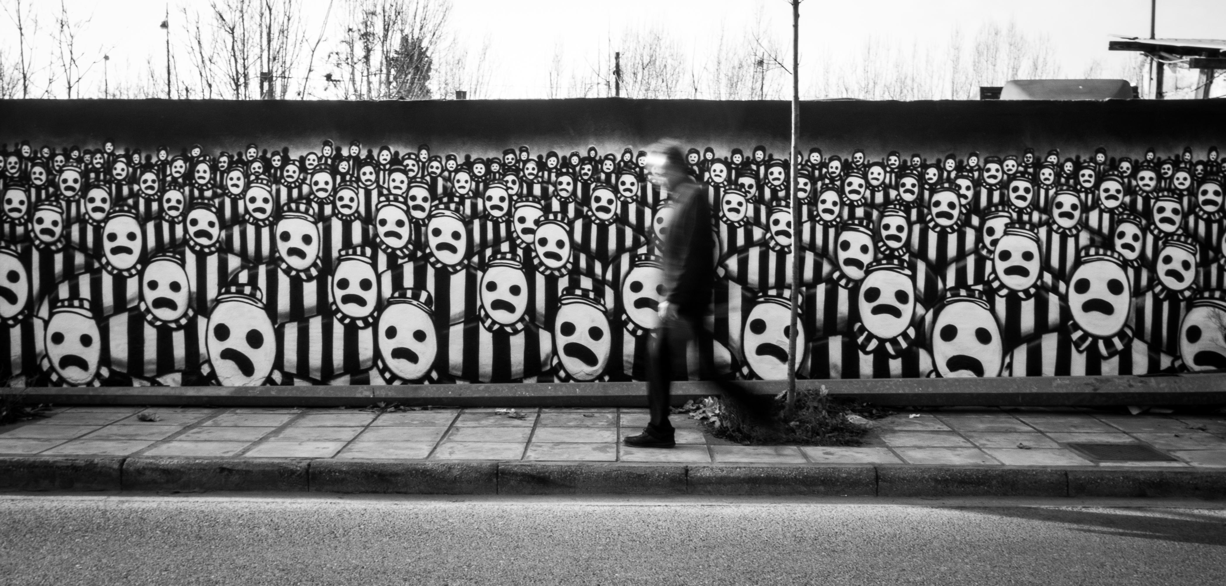 Graffiti wall black - Black And White Road White Street Wall Black Monochrome Graffiti Art Shape Urban Area Monochrome Photography