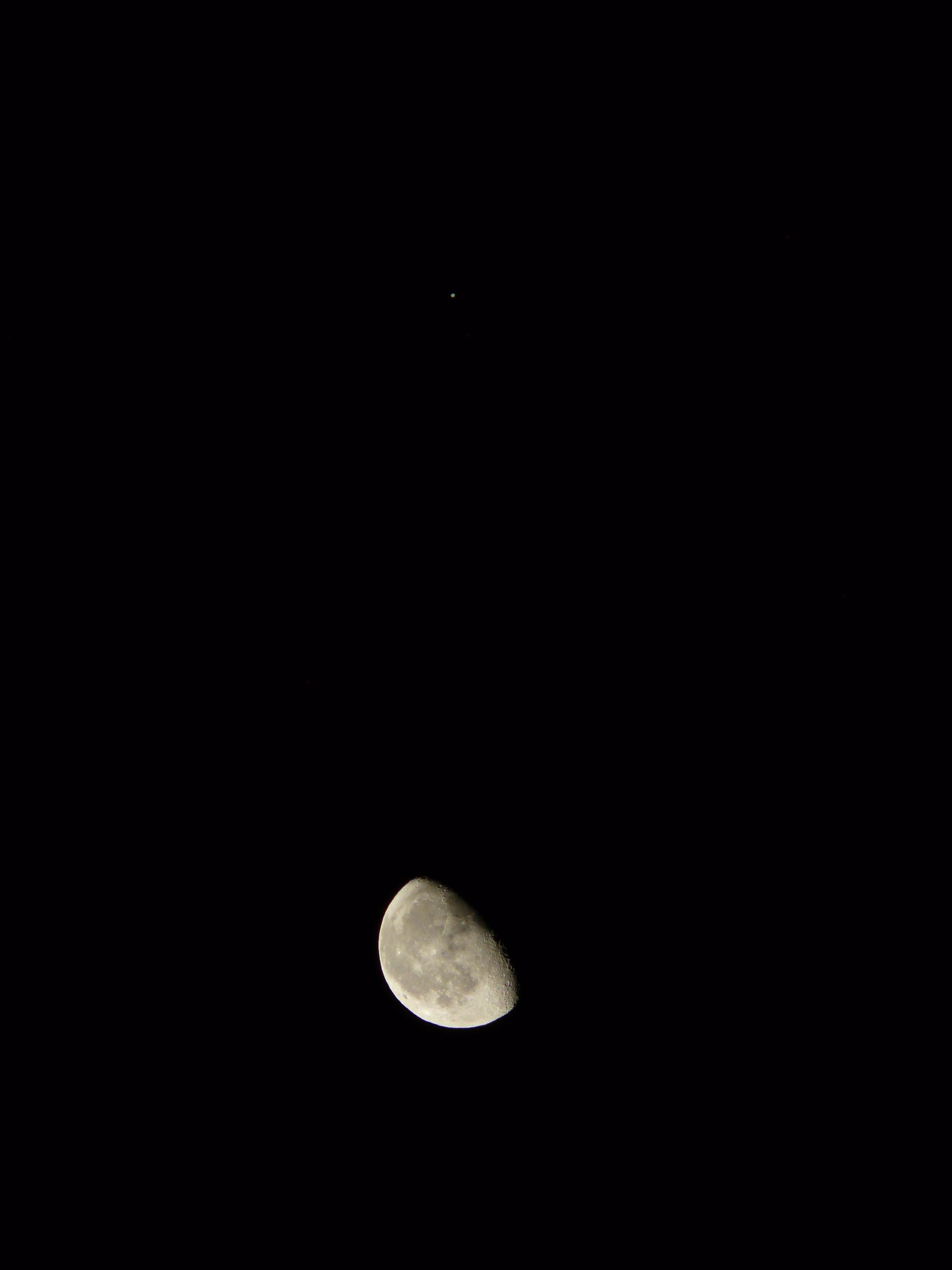 Gambar Hitam Dan Putih Langit Malam Bintang Bulan Purnama