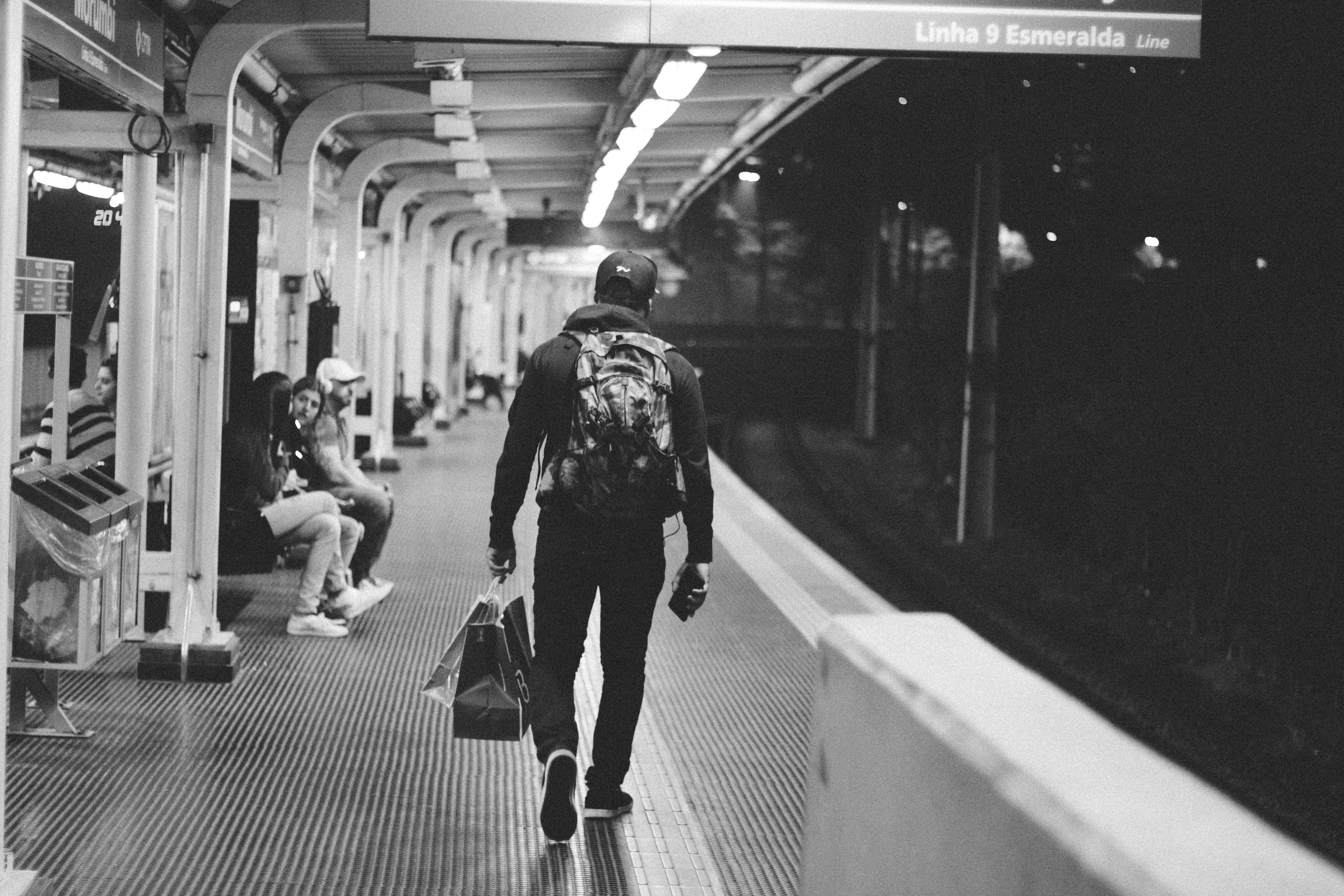 Black and white structure people photography subway metro train station black room monochrome public transportation public