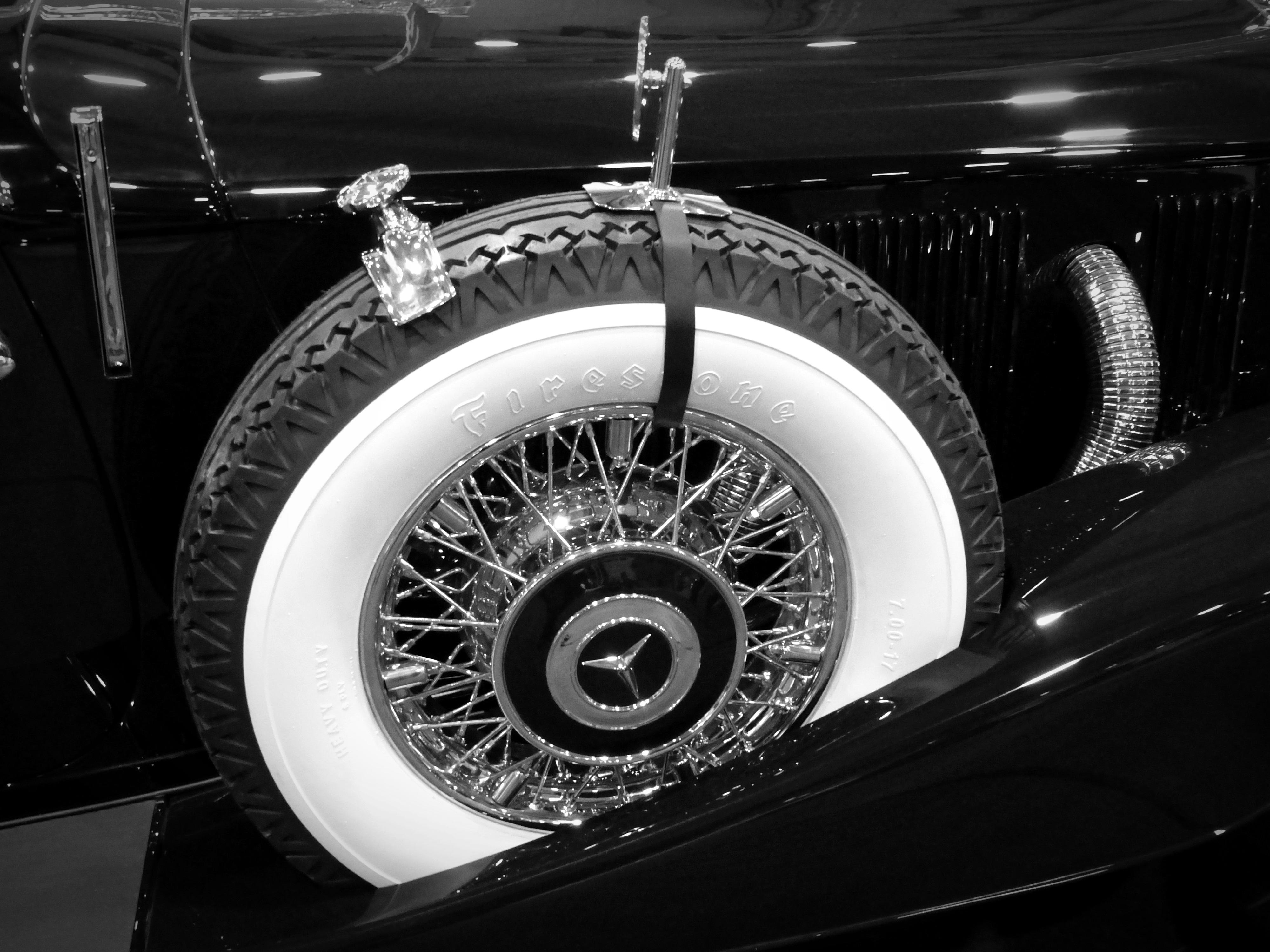Free Images : black and white, tire, vintage car, rim, oldtimer ...