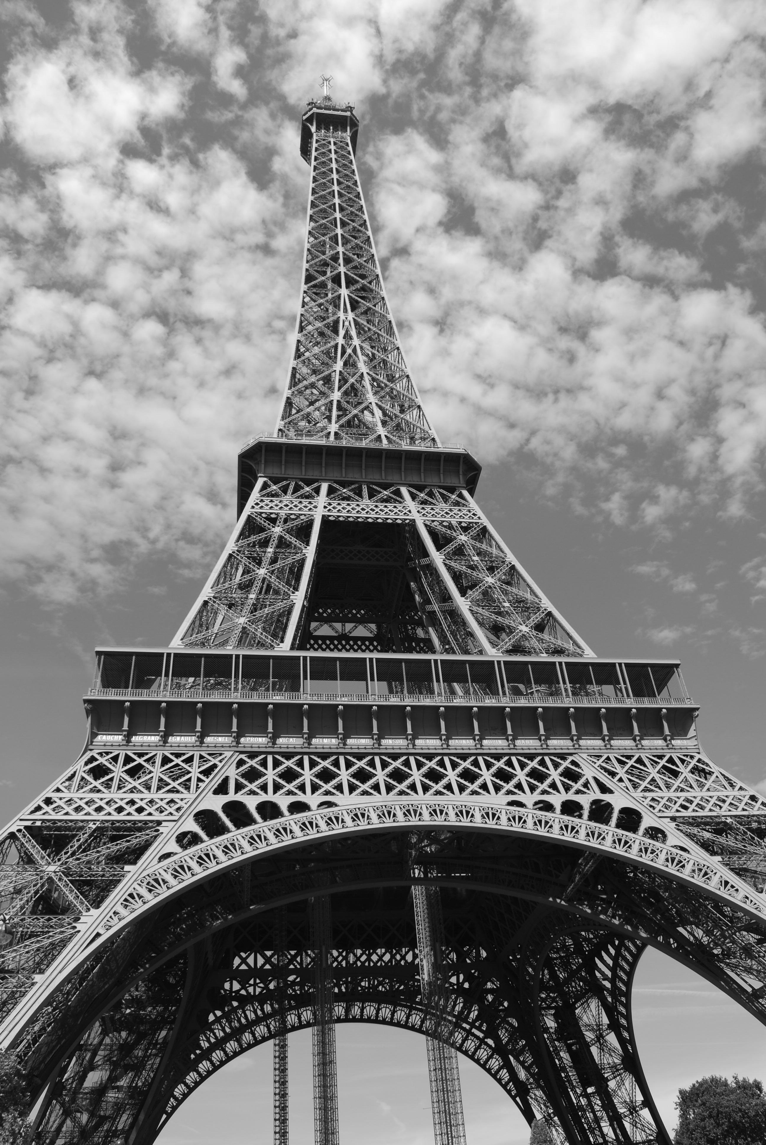Fotos gratis en blanco y negro ciudad torre eiffel par s rascacielos monumento paisaje - Fotos en blanco ...