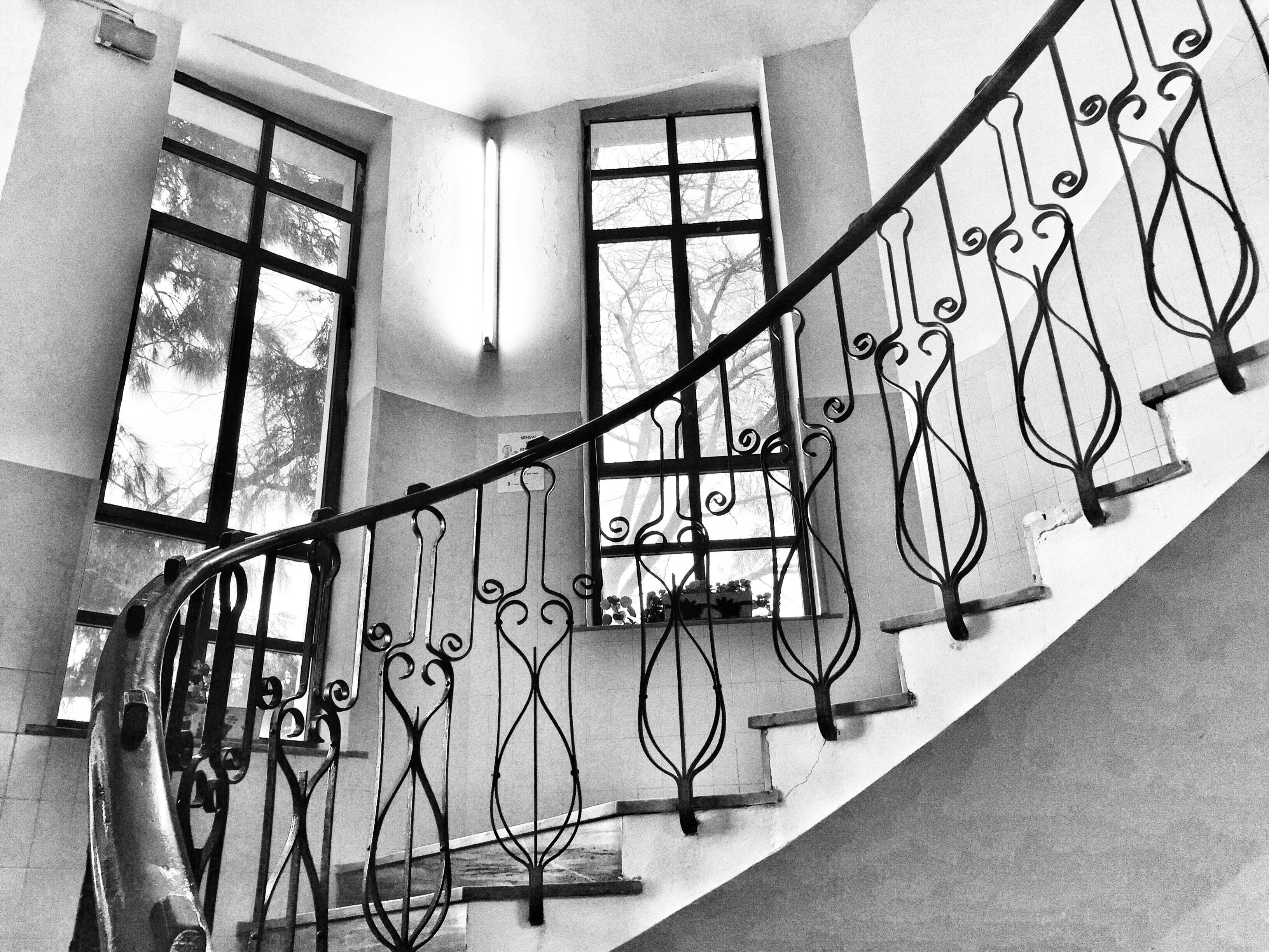 Gratis afbeeldingen zwart en wit venster muur stappen lijn trap monochroom interieur - Ontwerp trap trap ...