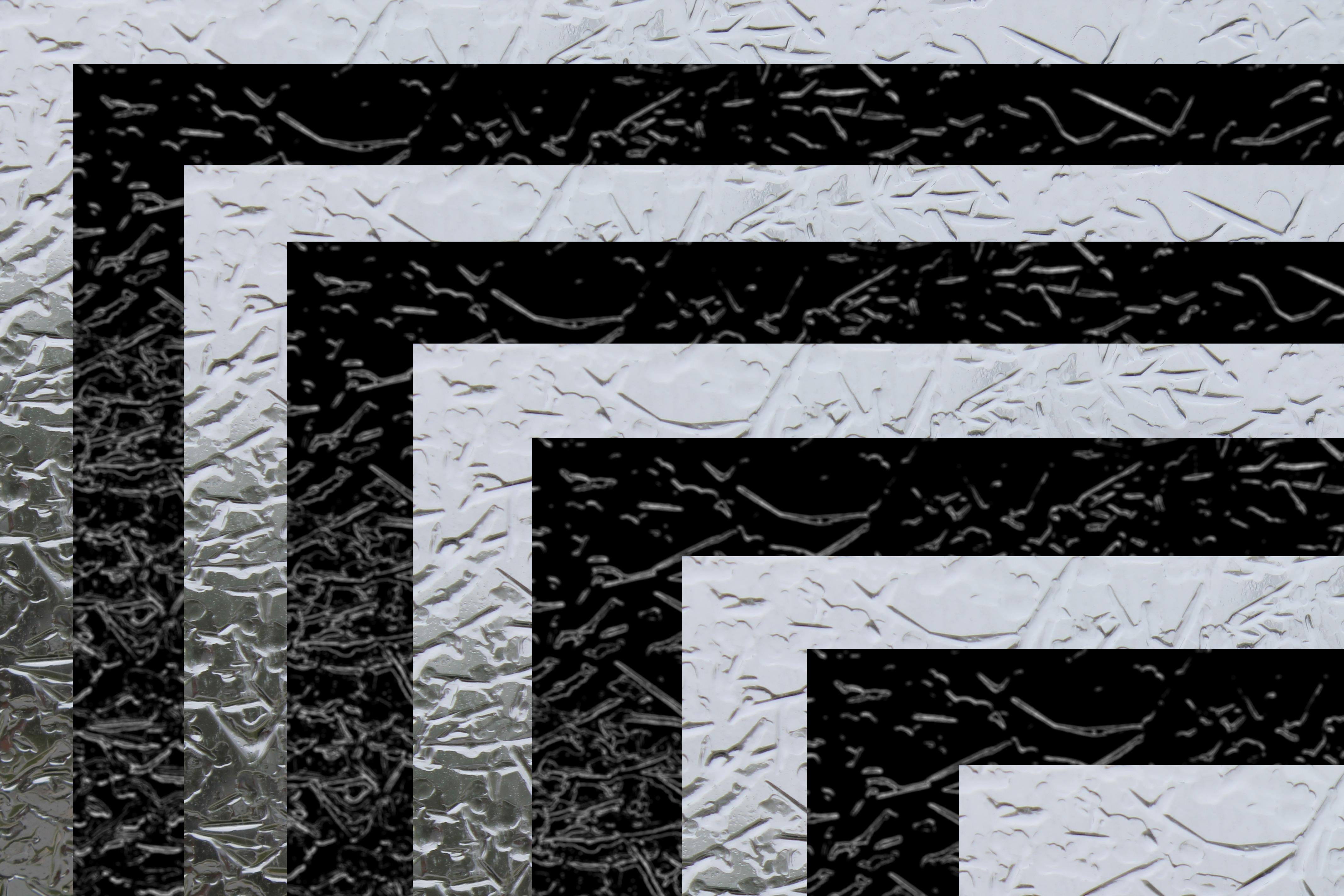 Gambar Hitam Dan Putih Jumlah Simetris Es Pola Garis Satu