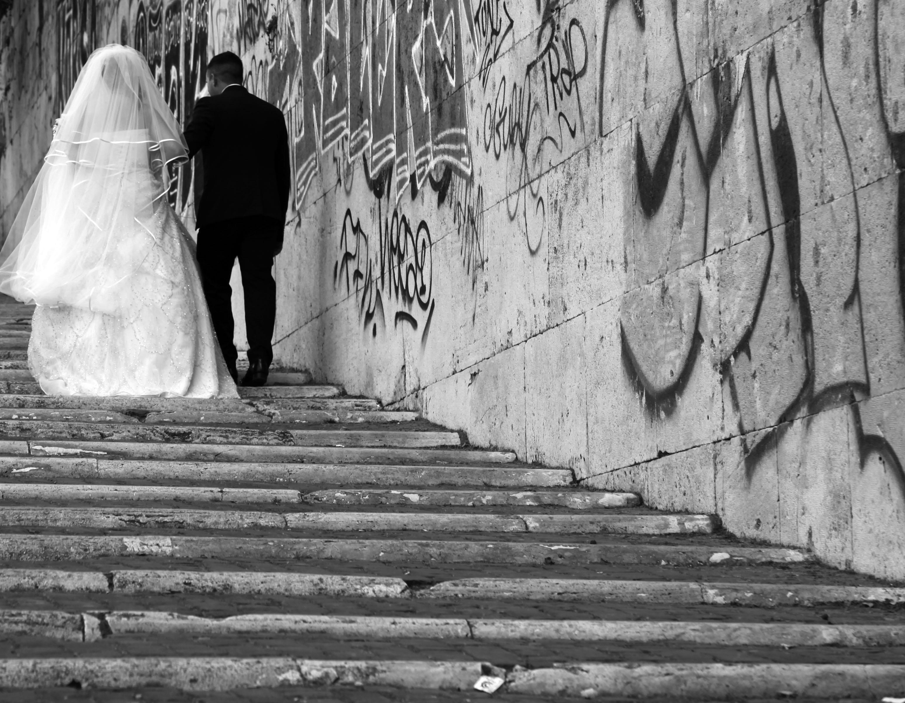 Très Images Gratuites : noir et blanc, rue, la photographie, mur, amour  CQ74