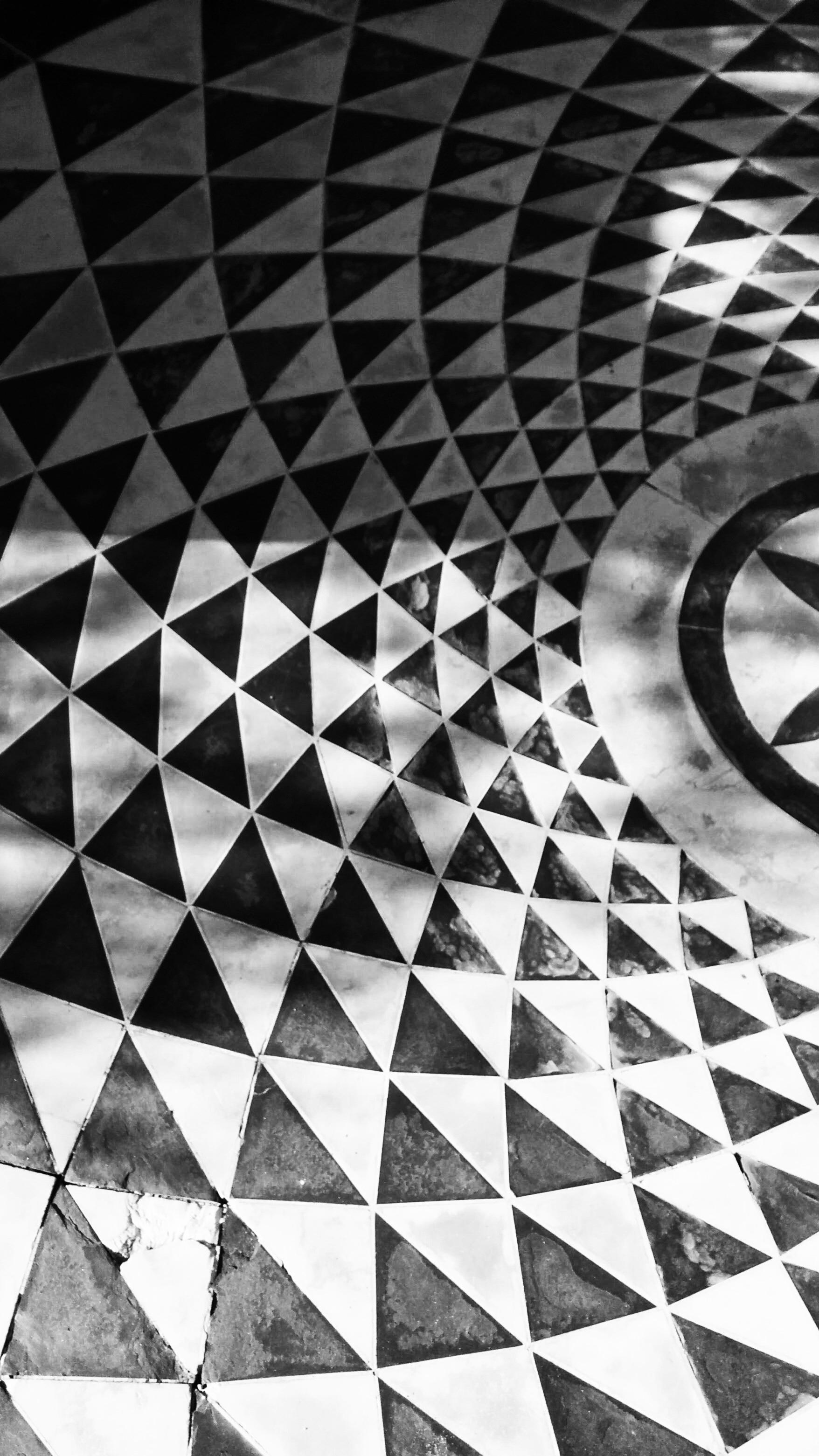 Gambar Hitam Dan Putih Tekstur Spiral Lantai Pola Garis
