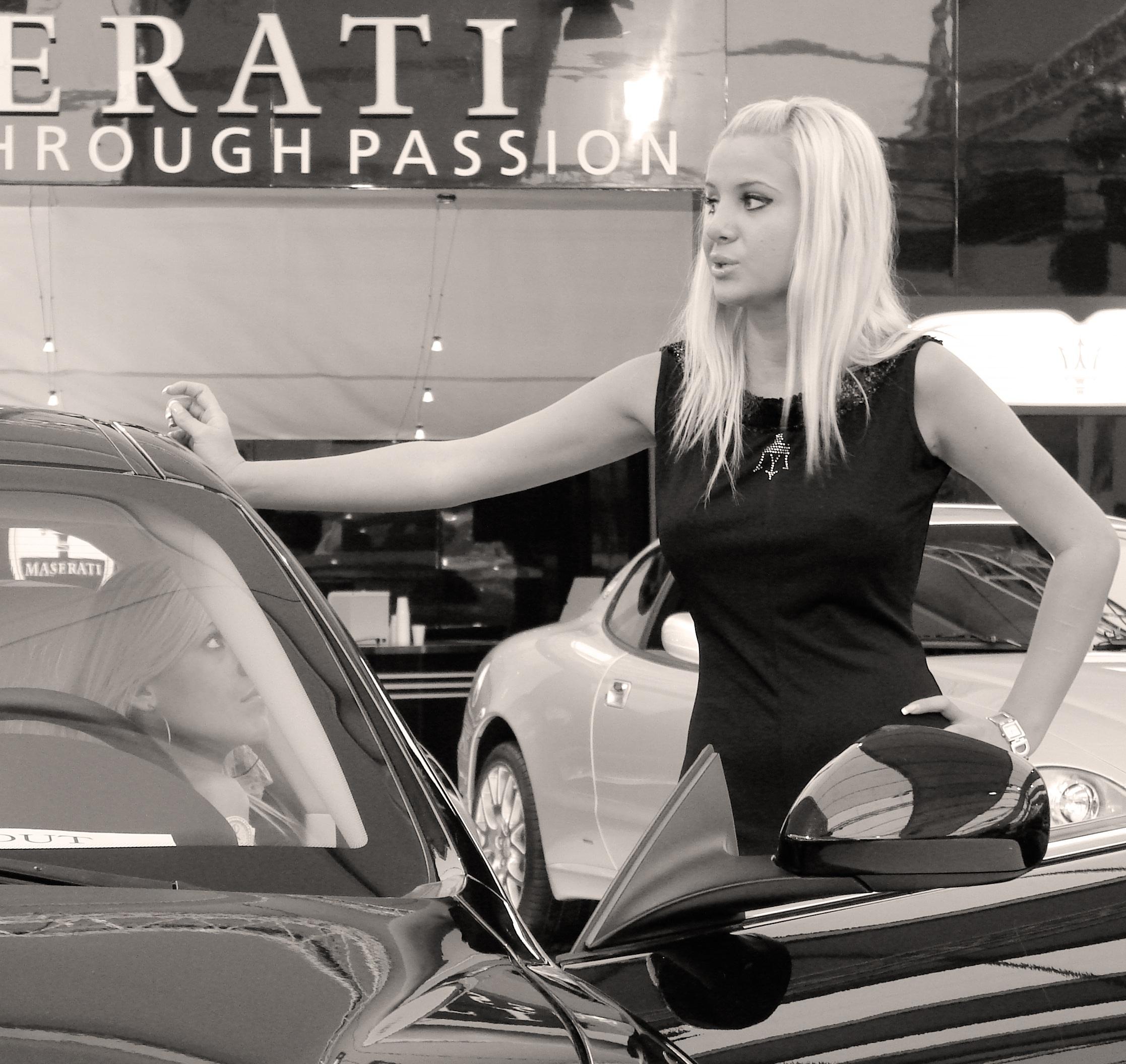 Free Images Black And White Woman Model Vehicle Italy Machinery Fashion Sports Car Luxury Atude Maserati Hostess Auto Show