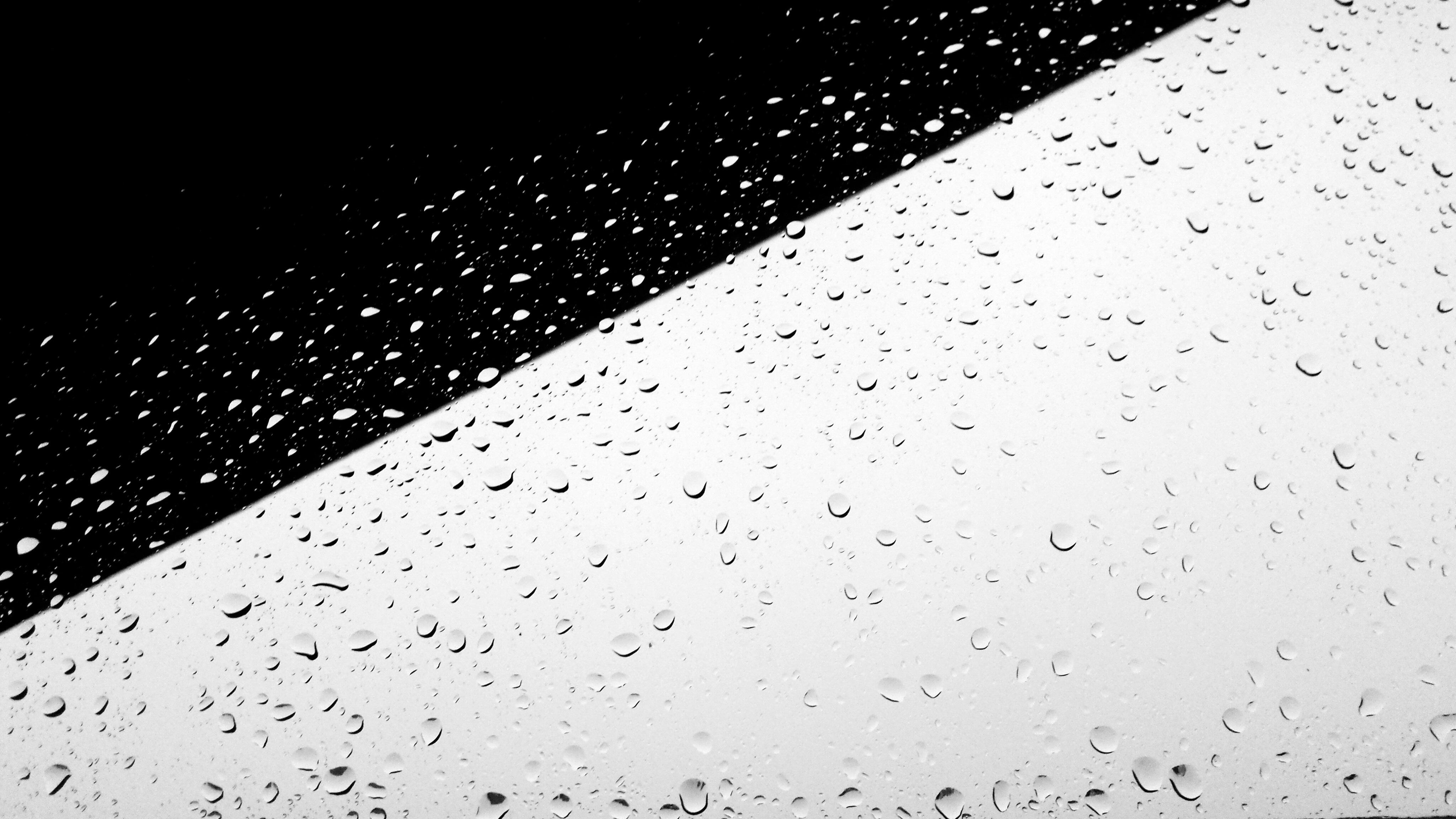 Black White Minimal Minimalist Minimalistic Rain Raindrops Rainy
