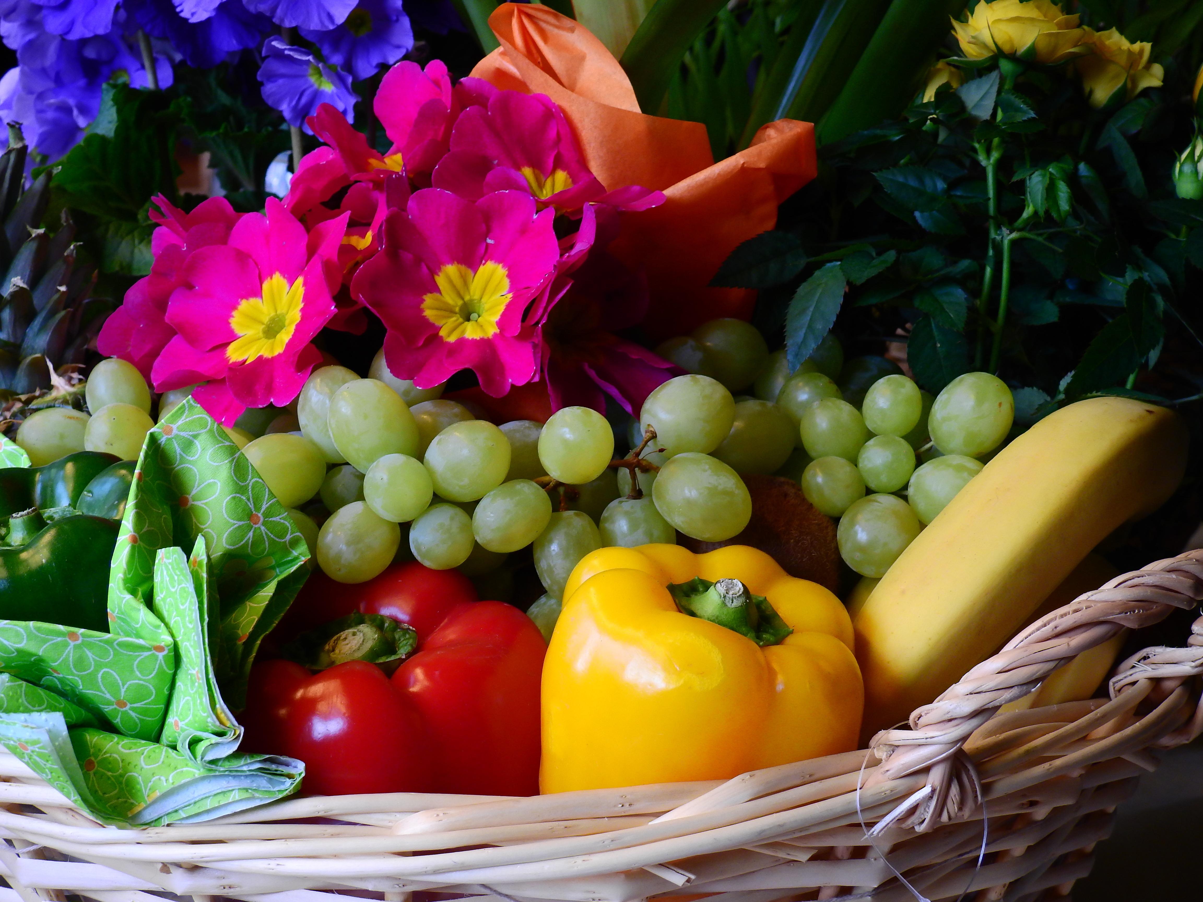 Fotograf Cicek Meyve Cicek Acmak Gida Uretmek Mutfak Sepet