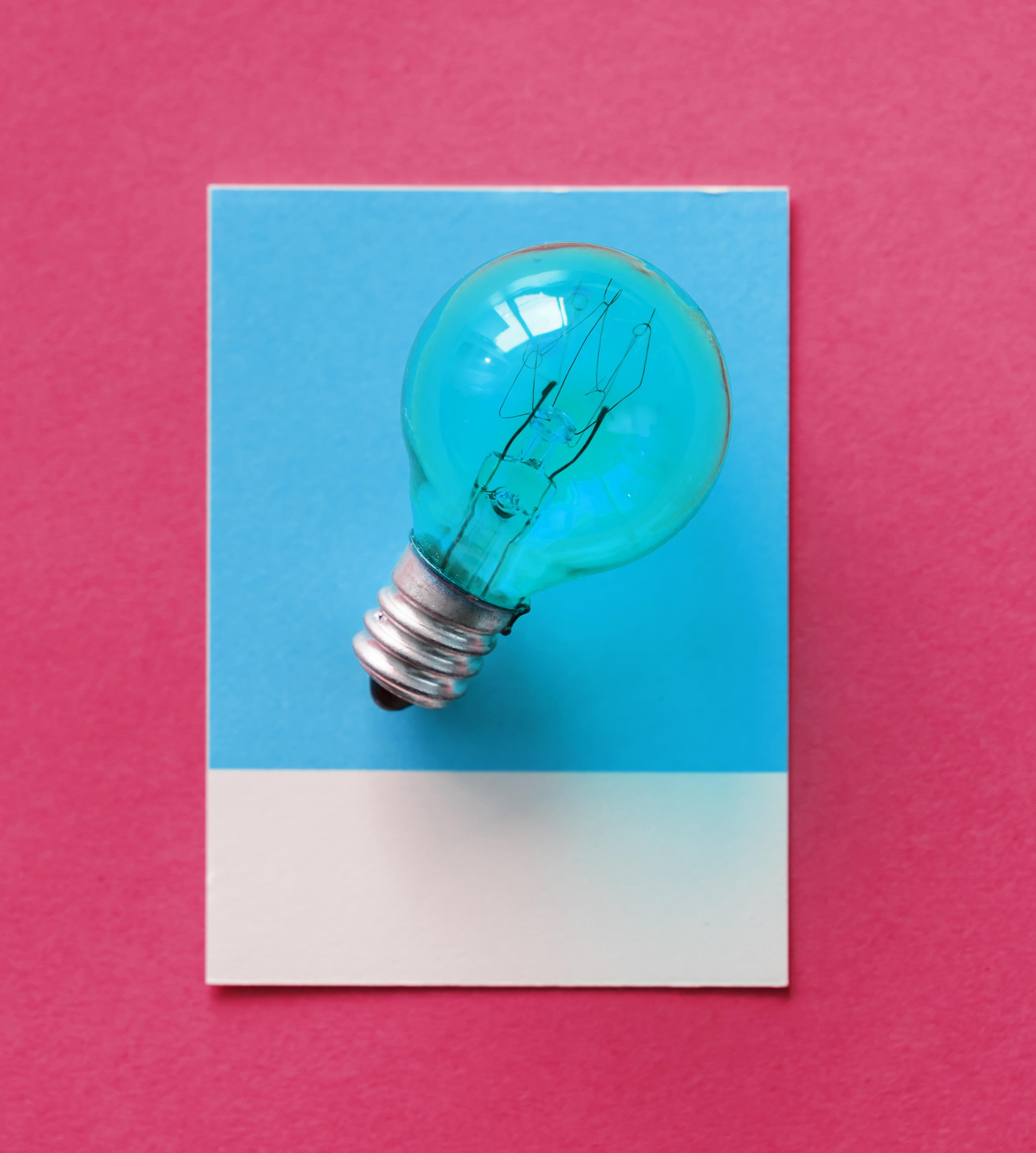 Kostenlose foto : blau, Birne, Karte, bunt, Konzept, Begrifflich ...