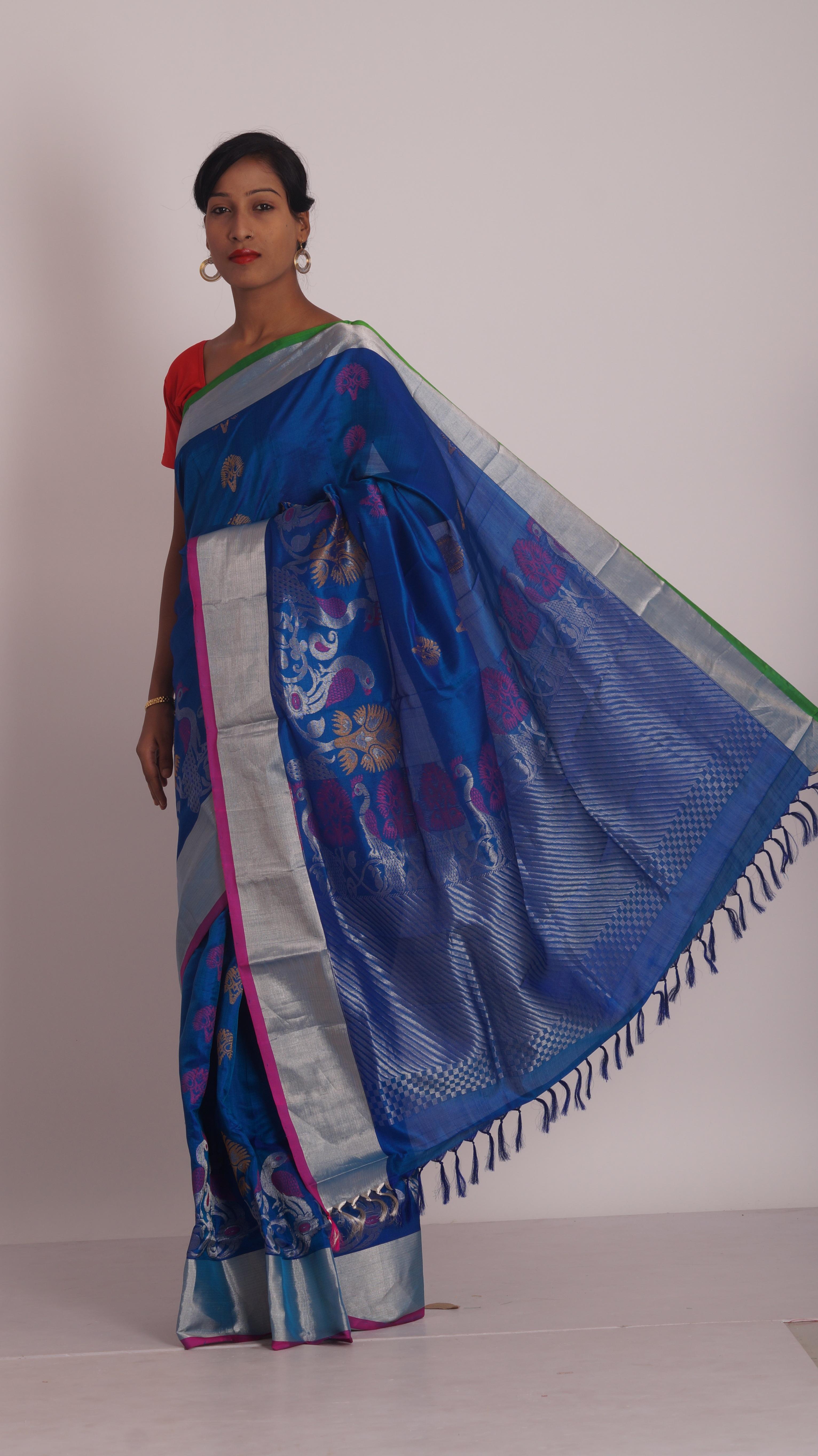 Kostenlose foto : blau, Material, Textil-, Pfirsich, Sari, Magenta ...