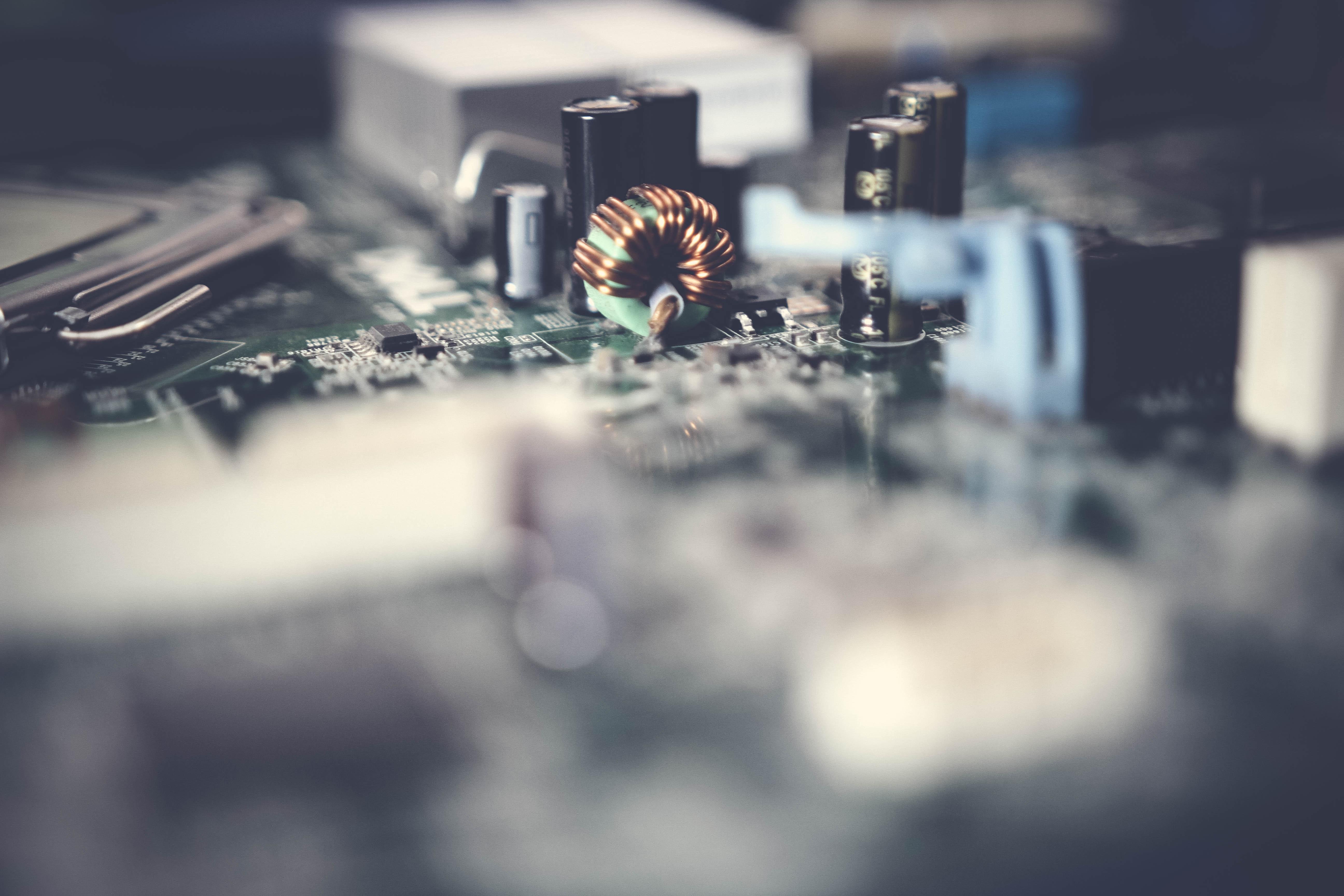 Computer Circuit Main Board Royalty Free Stock Photography Image