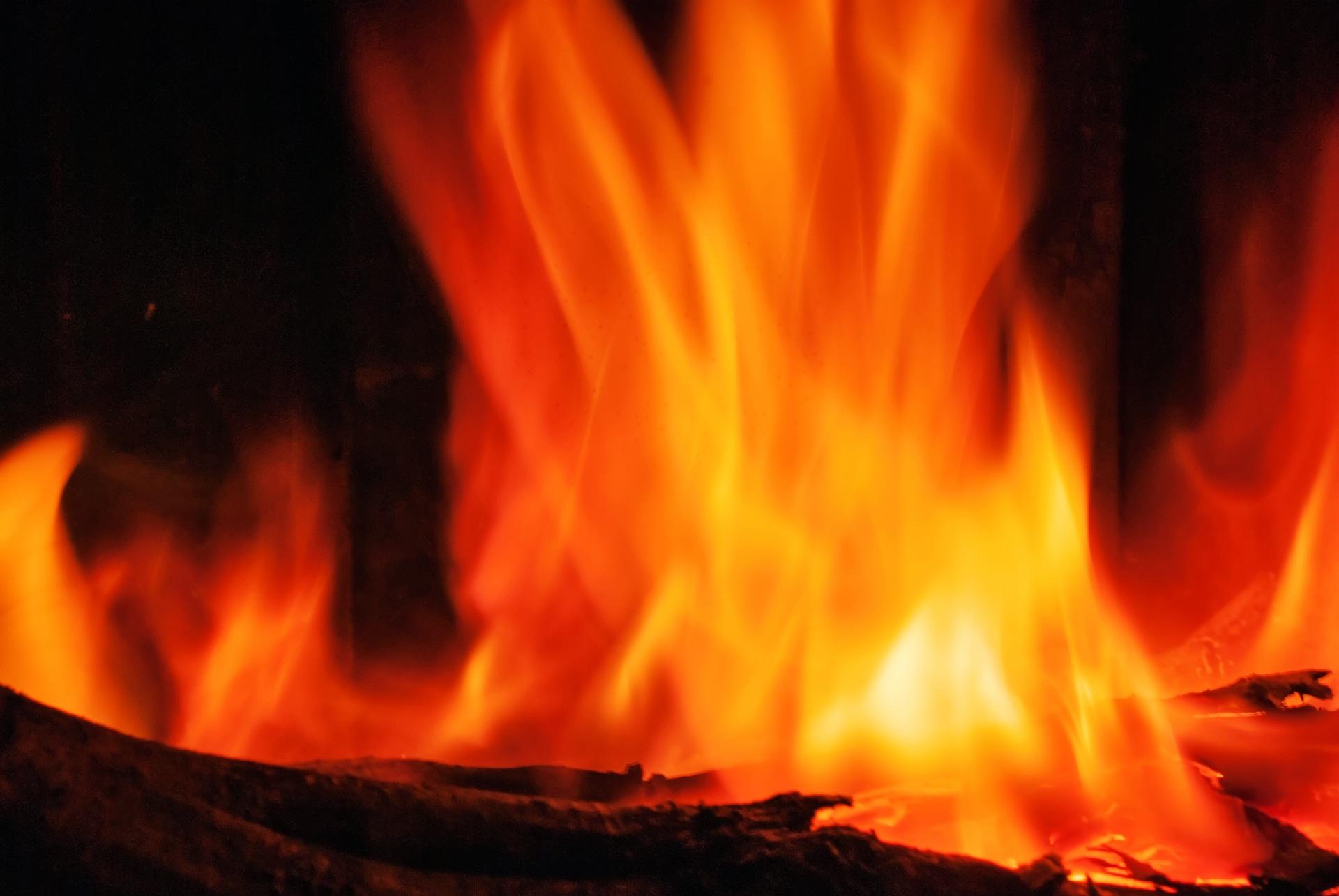 Inferno Em Chamas Awesome banco de imagens : borrão, brilhante, madeira, laranja, registro