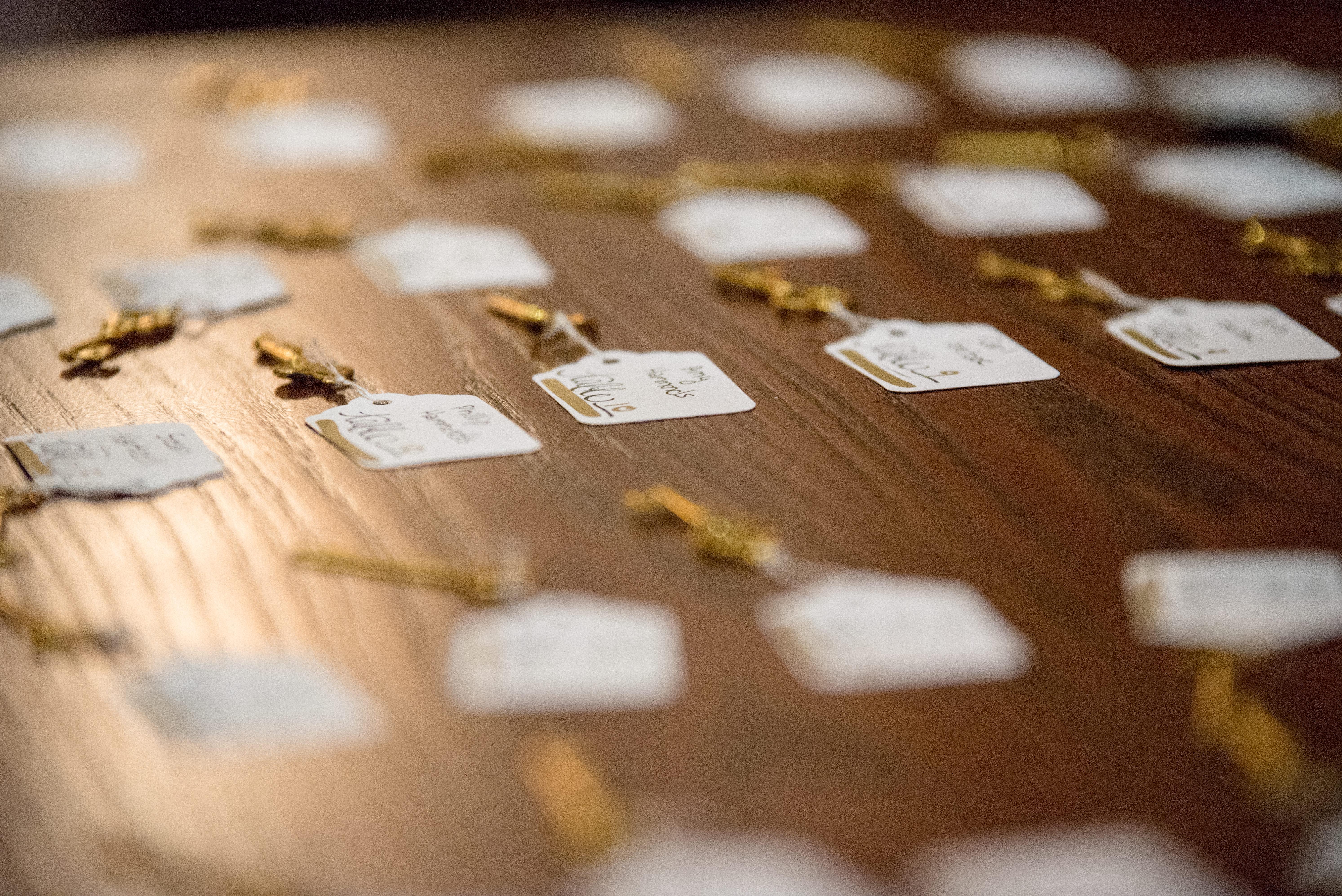 Immagini Belle Sfocatura D Oro Chiavi Carta