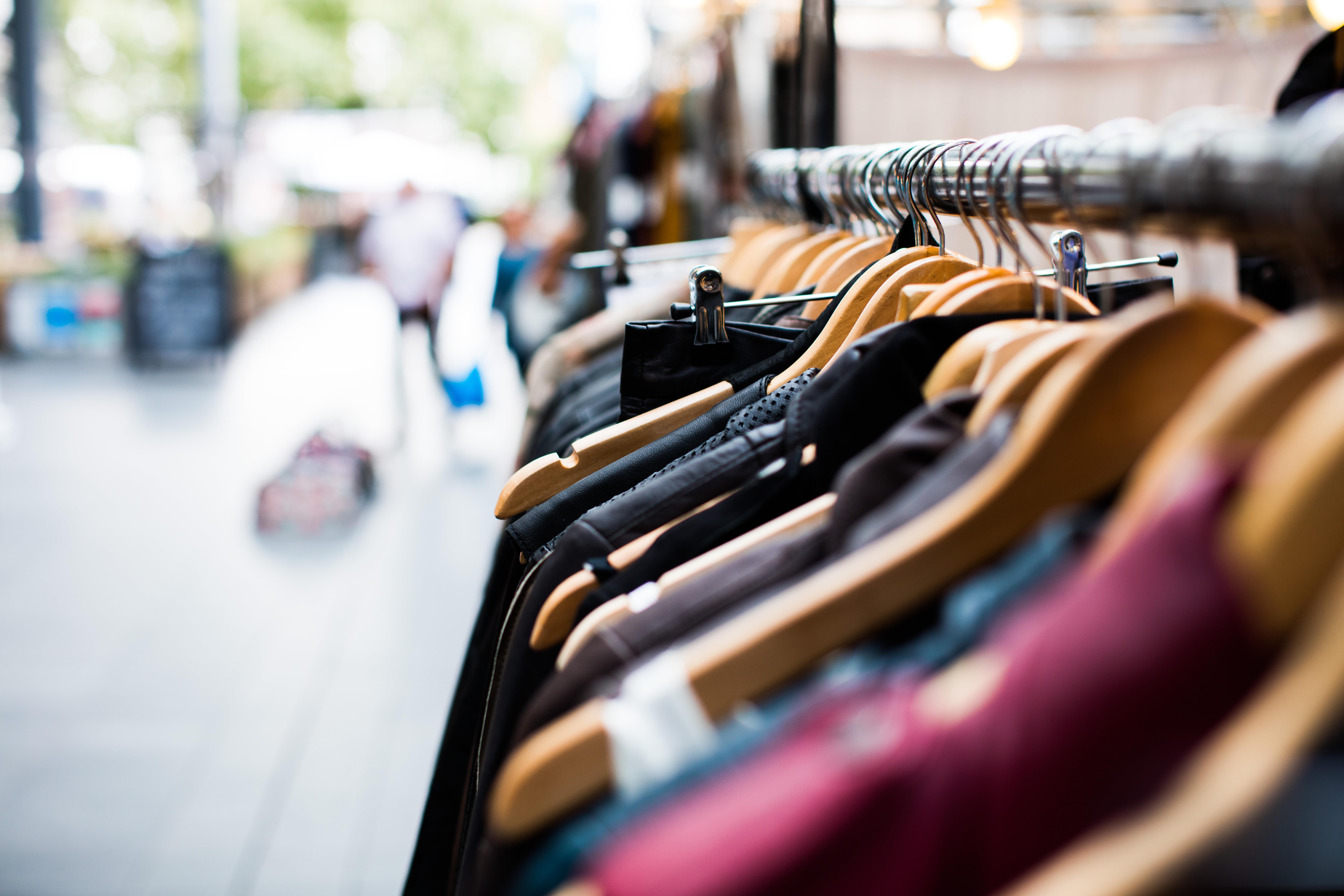 free images blur people hanger shop spring vehicle color market blue rack shopping. Black Bedroom Furniture Sets. Home Design Ideas
