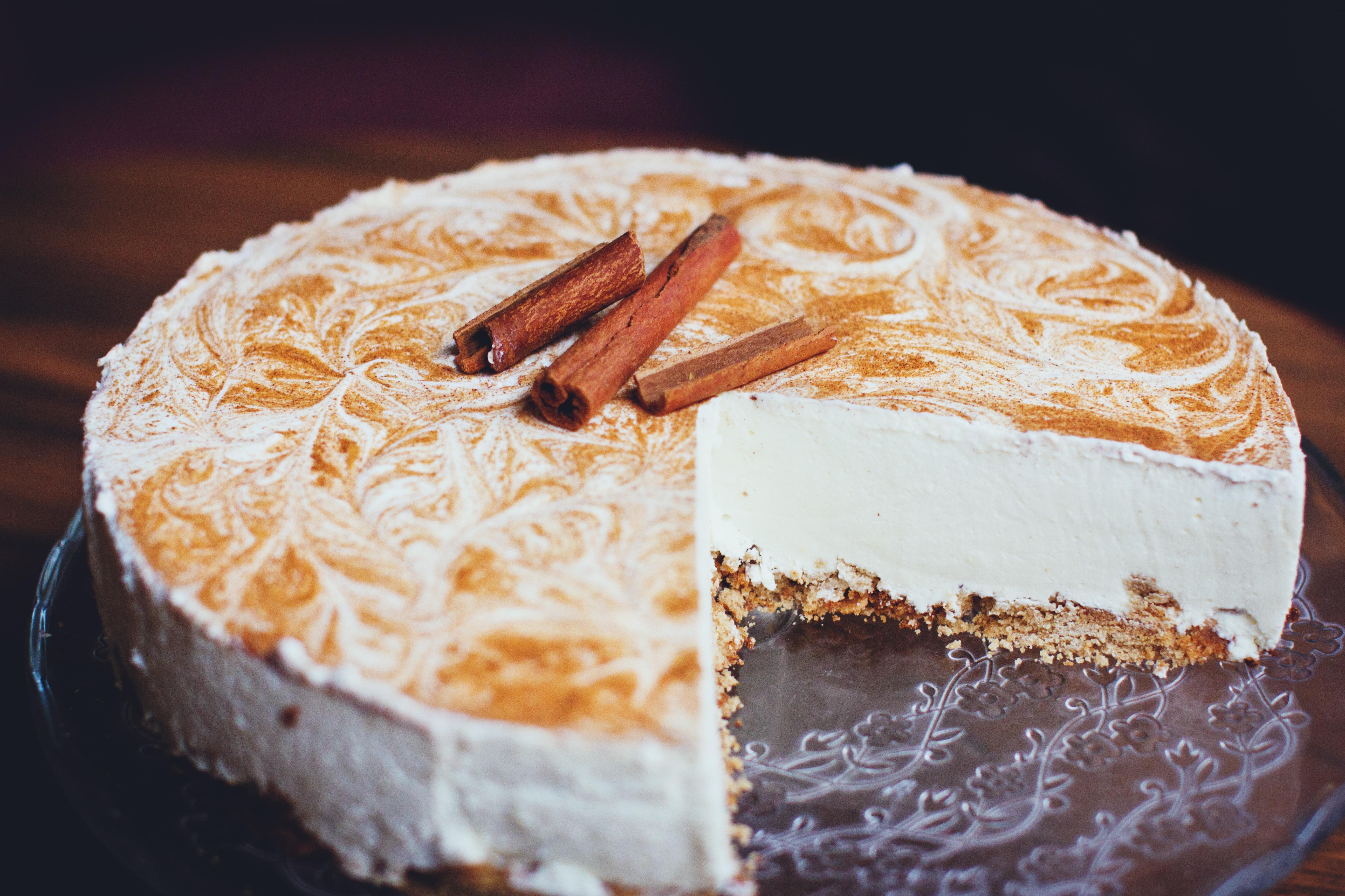 Up close cream pie