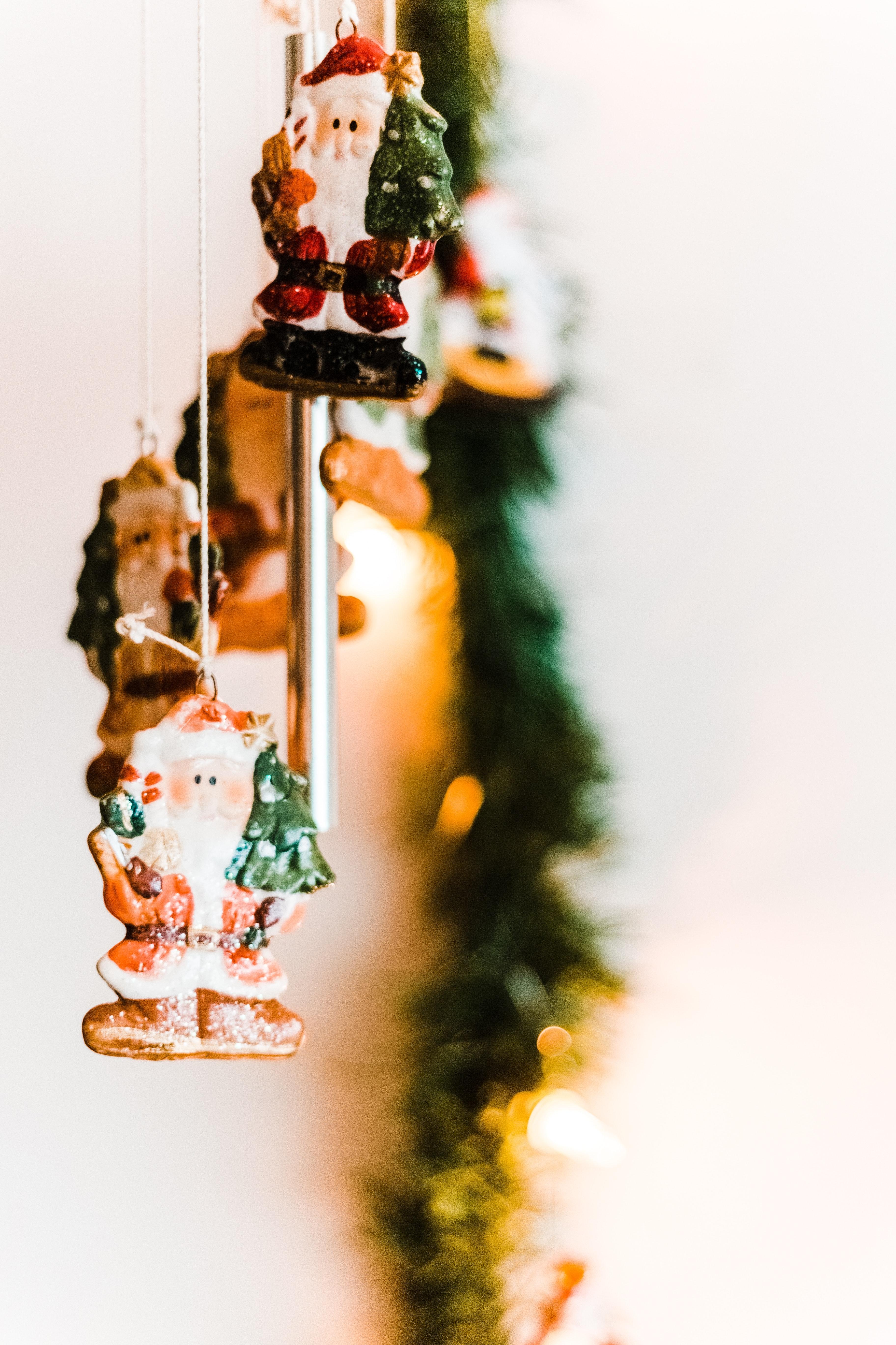 Fotoğraf Bulanık Arka Plan Yılbaşı Arka Planı Noel Süsleri