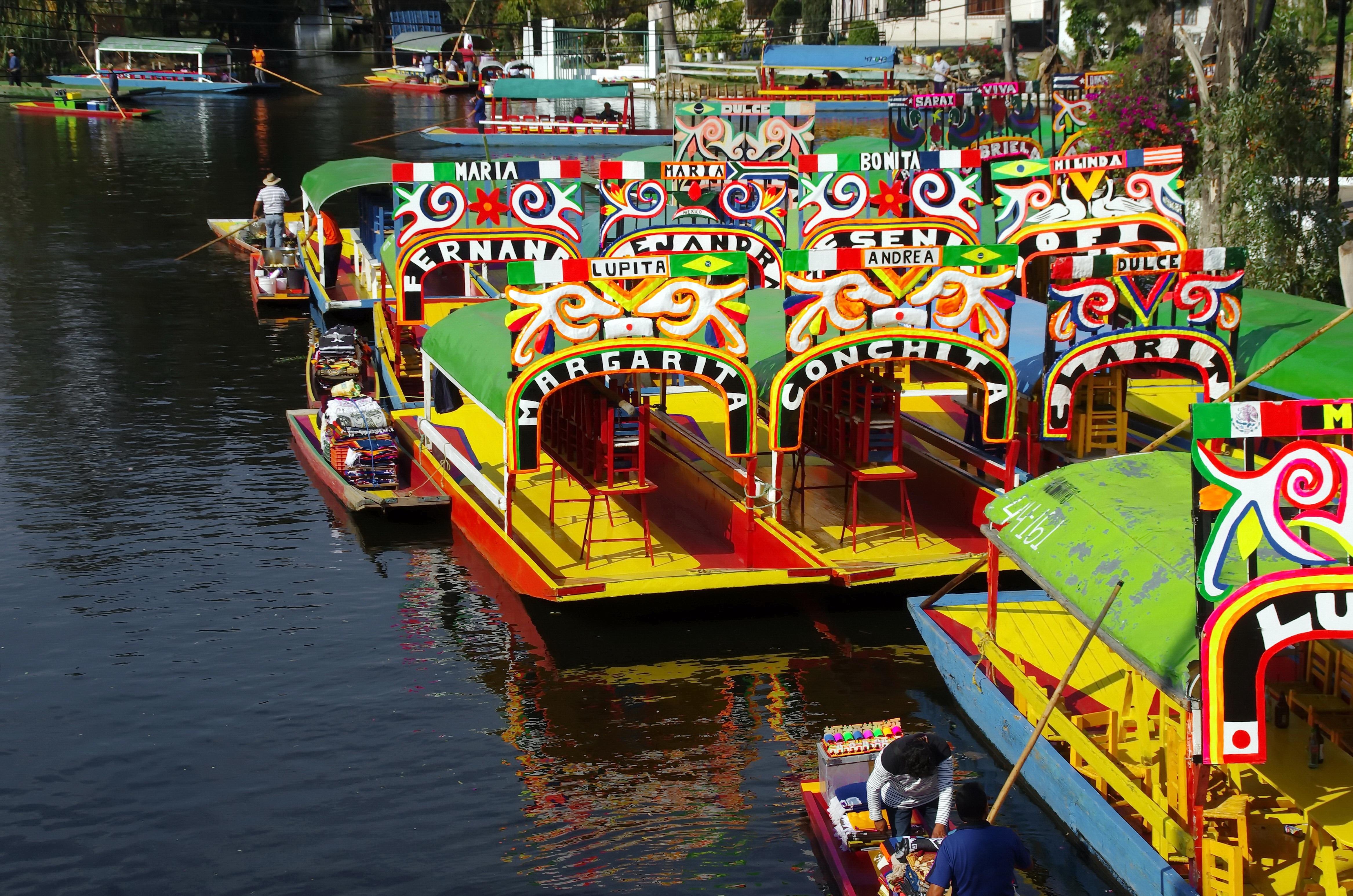 Images gratuites bateau lac jet e v hicule voie for Jardin xochimilco