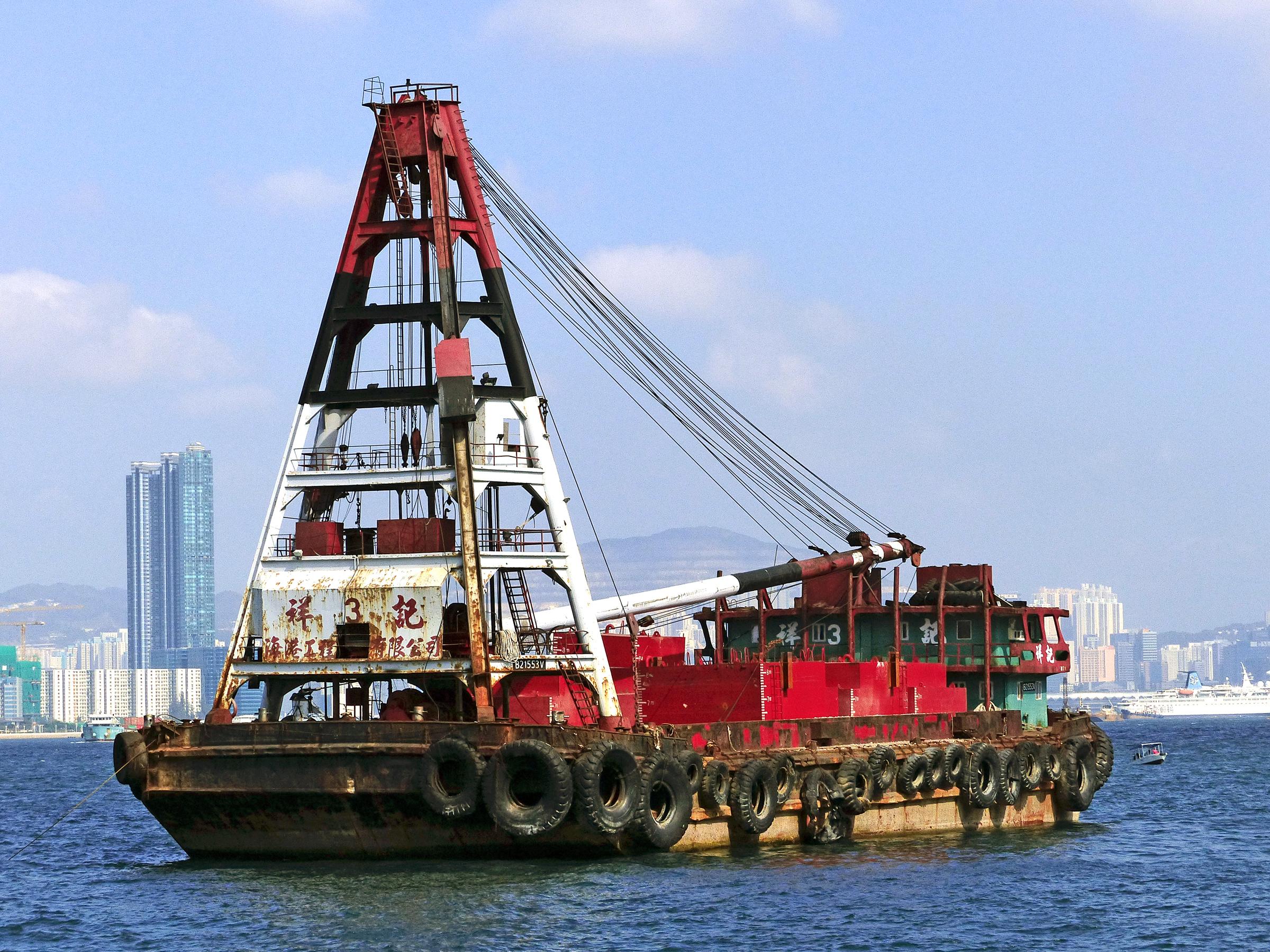Gambar Perahu Mengangkut Kendaraan Area Publik Pengiriman Bridgecamera Kapal Penarik Hongkong Superzoom Panasonicdmcfz Cargohandling