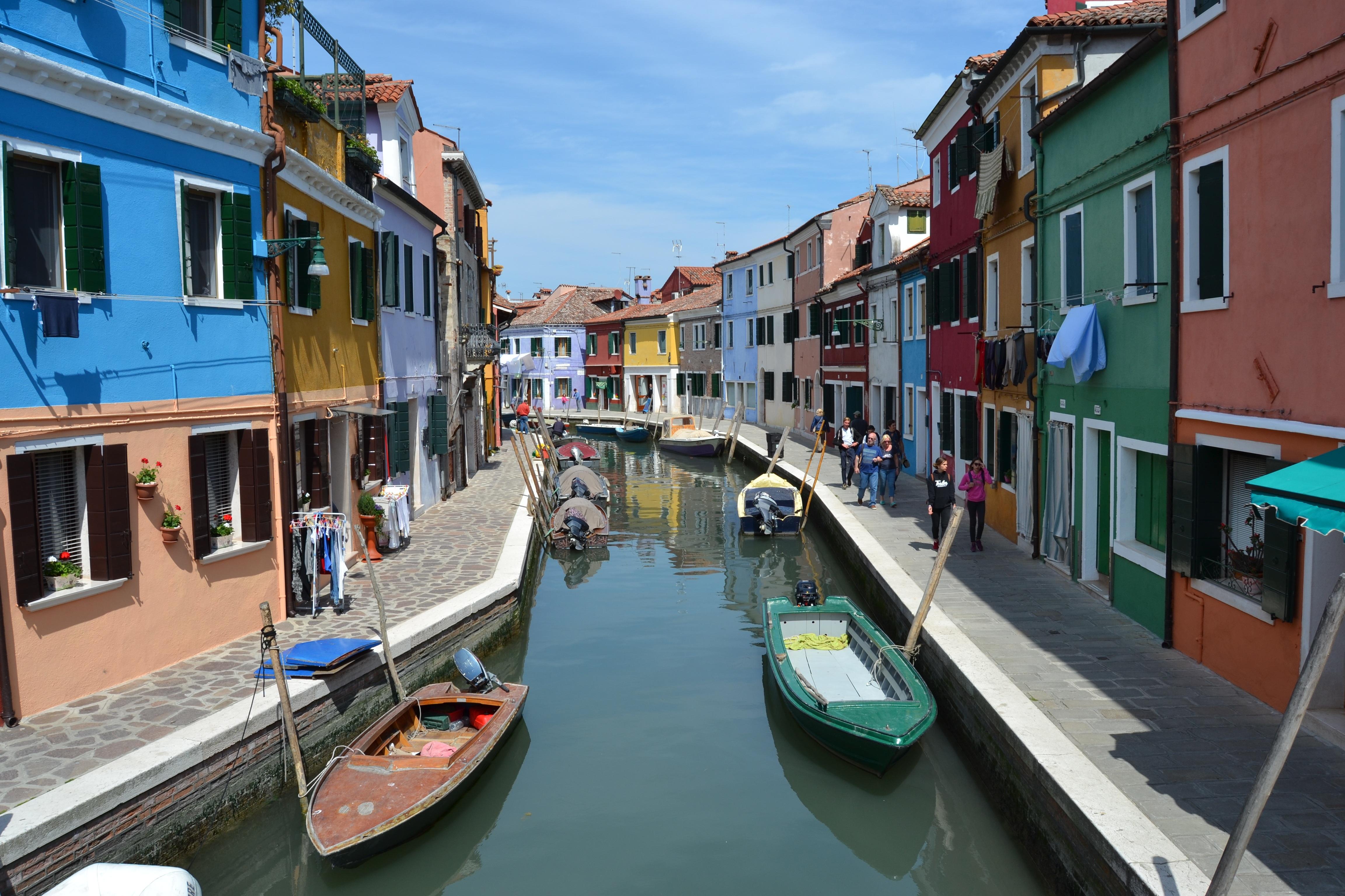 Kostenlose foto : Boot, Stadt, Kanal, Ferien, Fahrzeug, Italien ...