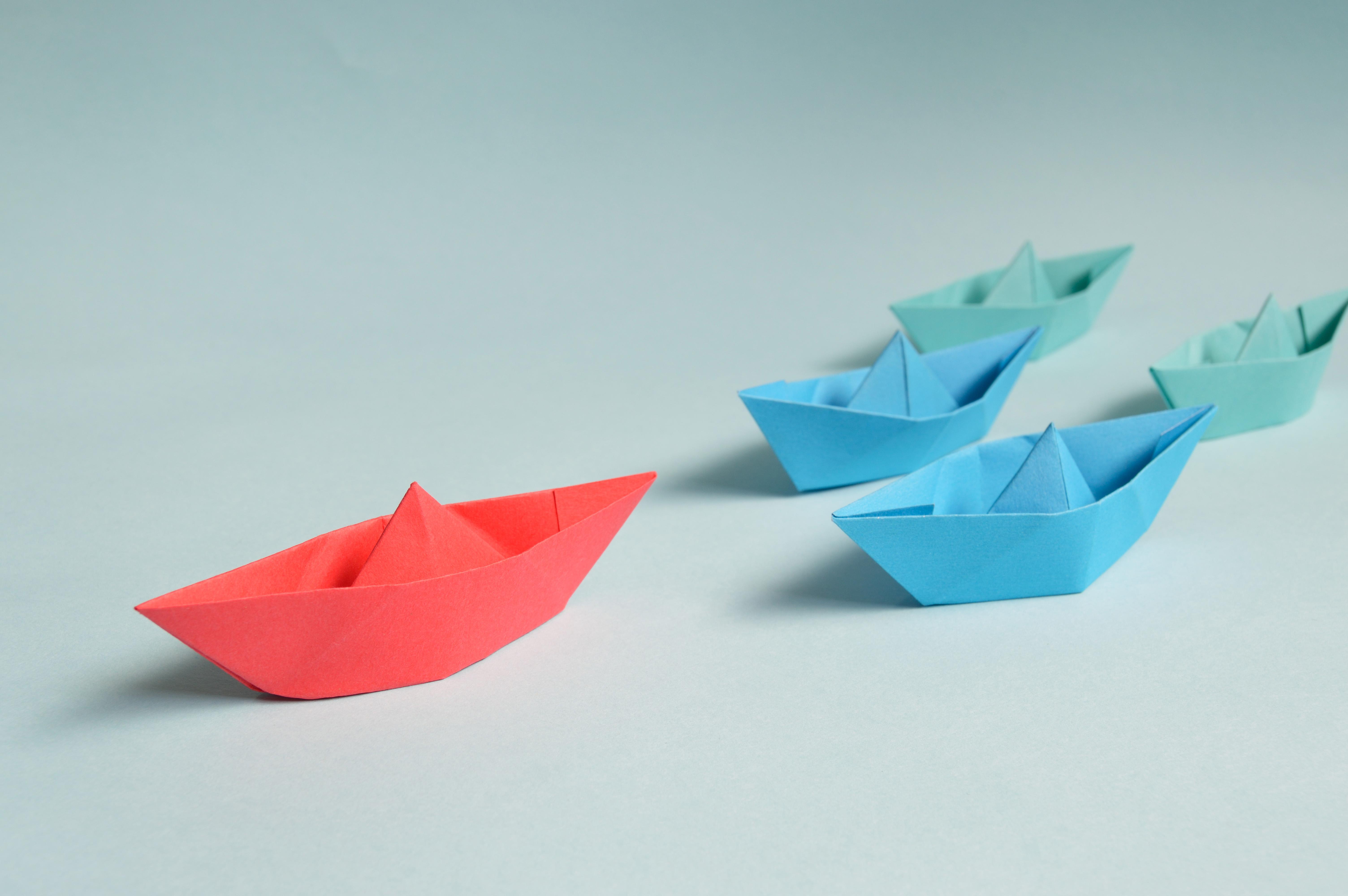... Art, Illustration, Triangle, Voile, Jouets, Conceptuel, Graphique,  Marine, Forme, Direction, Chef, Papier Artistique, Papier Origami, Bateaux  En Papier ...