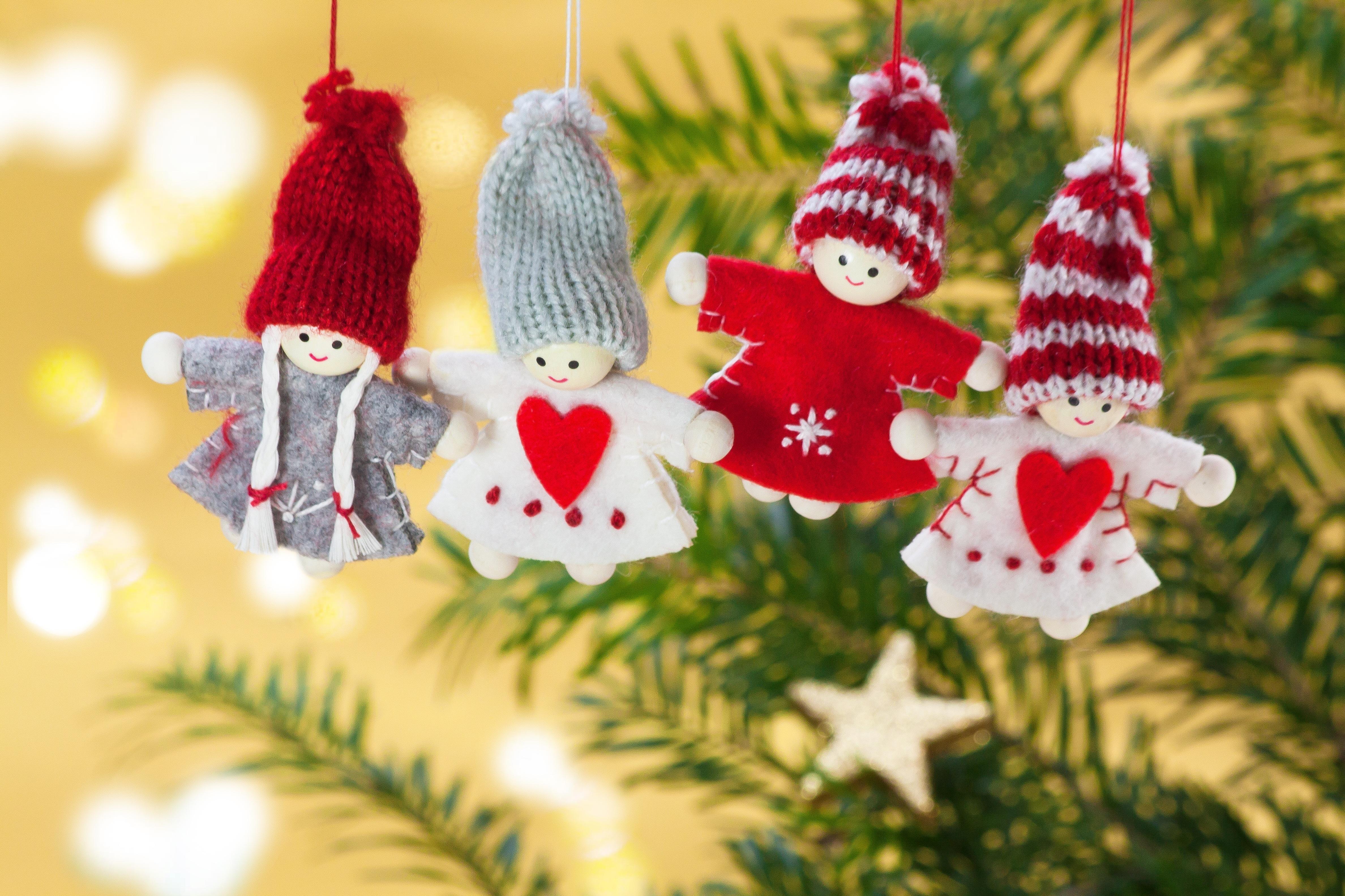 Free Images : bokeh, heart, holiday, fir, decor, christmas tree ...