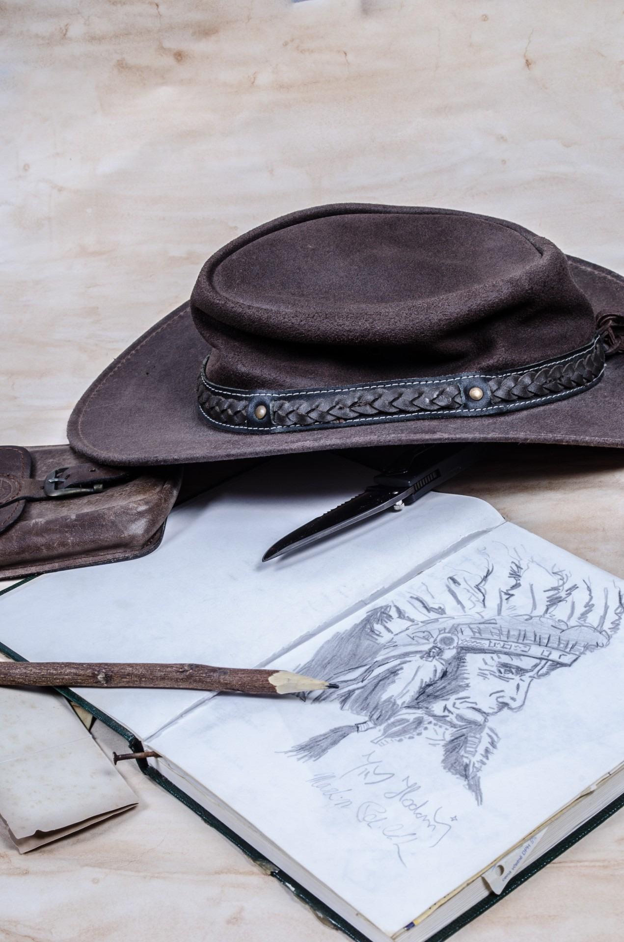 [Siap Cetak] Sketsa Gambar Topi