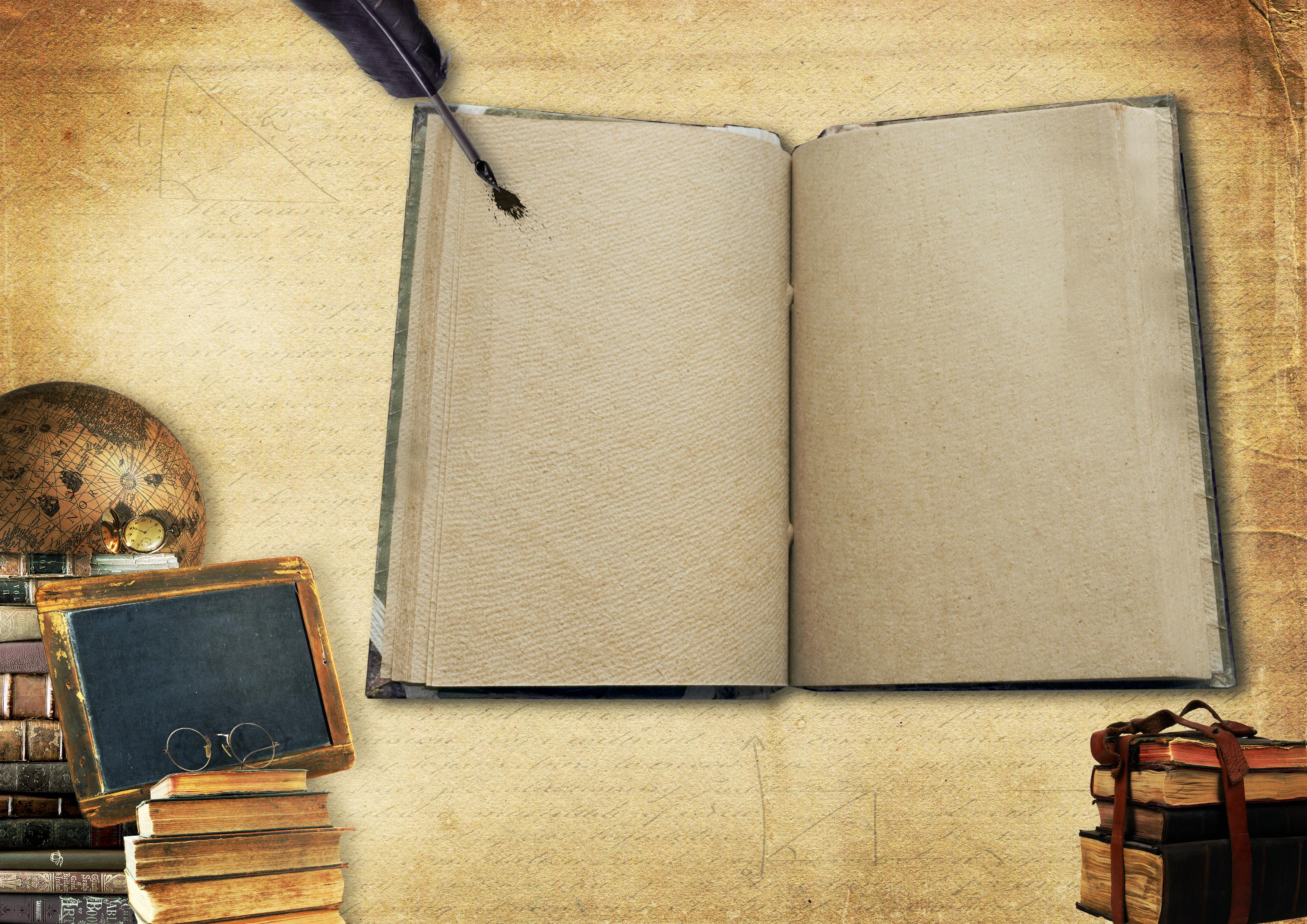 Pareti In Legno Shabby : Immagini belle : libri globo lavagna penna libro aperto
